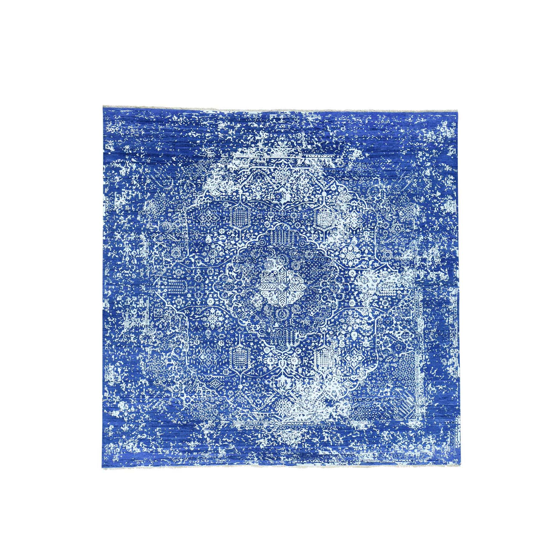 Transitional Hand Knotted Blue Rug No: 161724