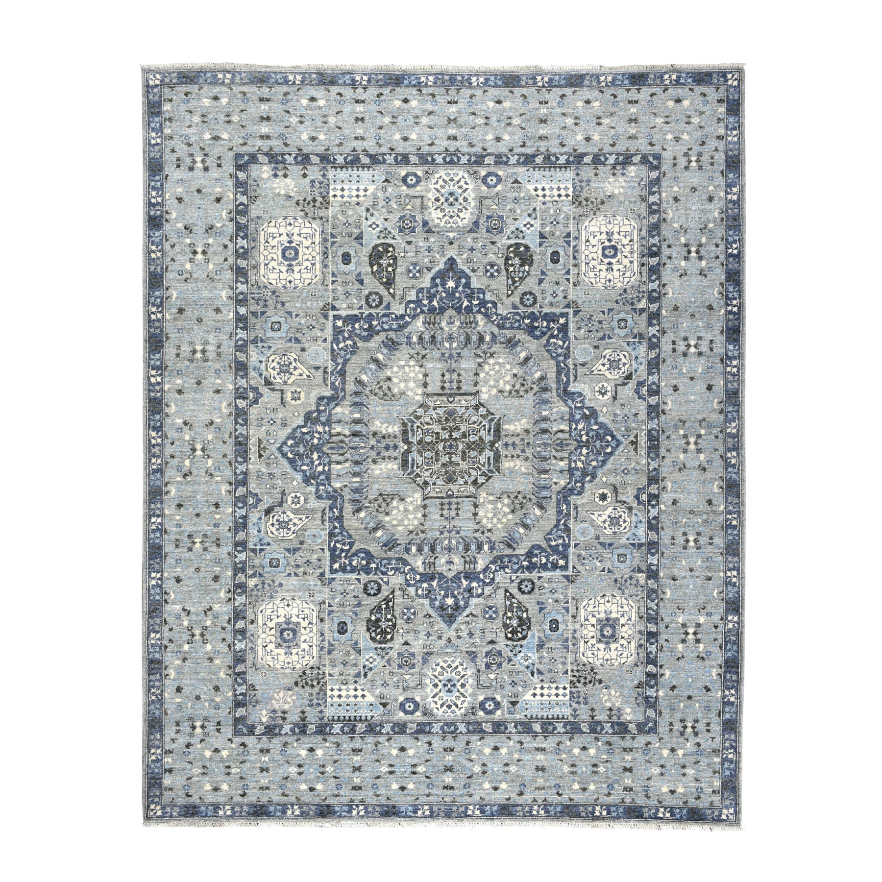 Agra And Turkish Collection Hand Knotted Grey Rug No: 01104850