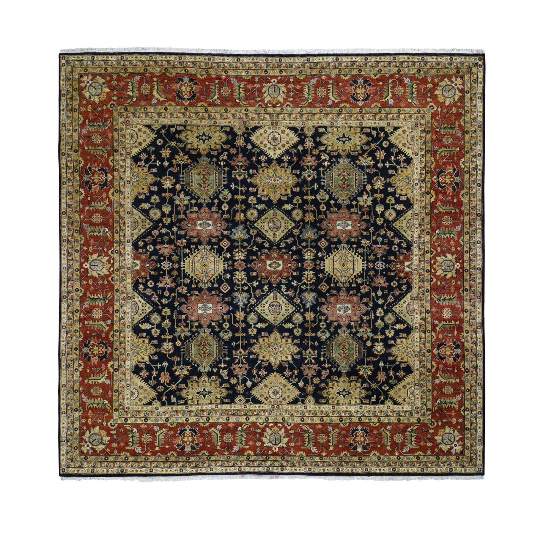 Serapi Heriz and Bakhshayesh Collection Hand Knotted Black Rug No: 0196332