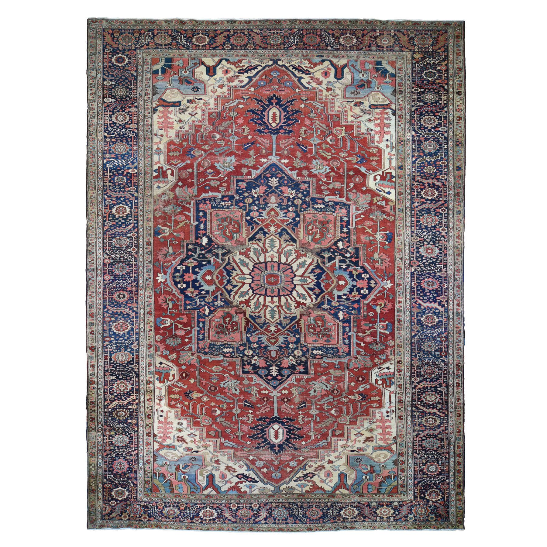 Antique Collection Hand Knotted Red Rug No: 0196386