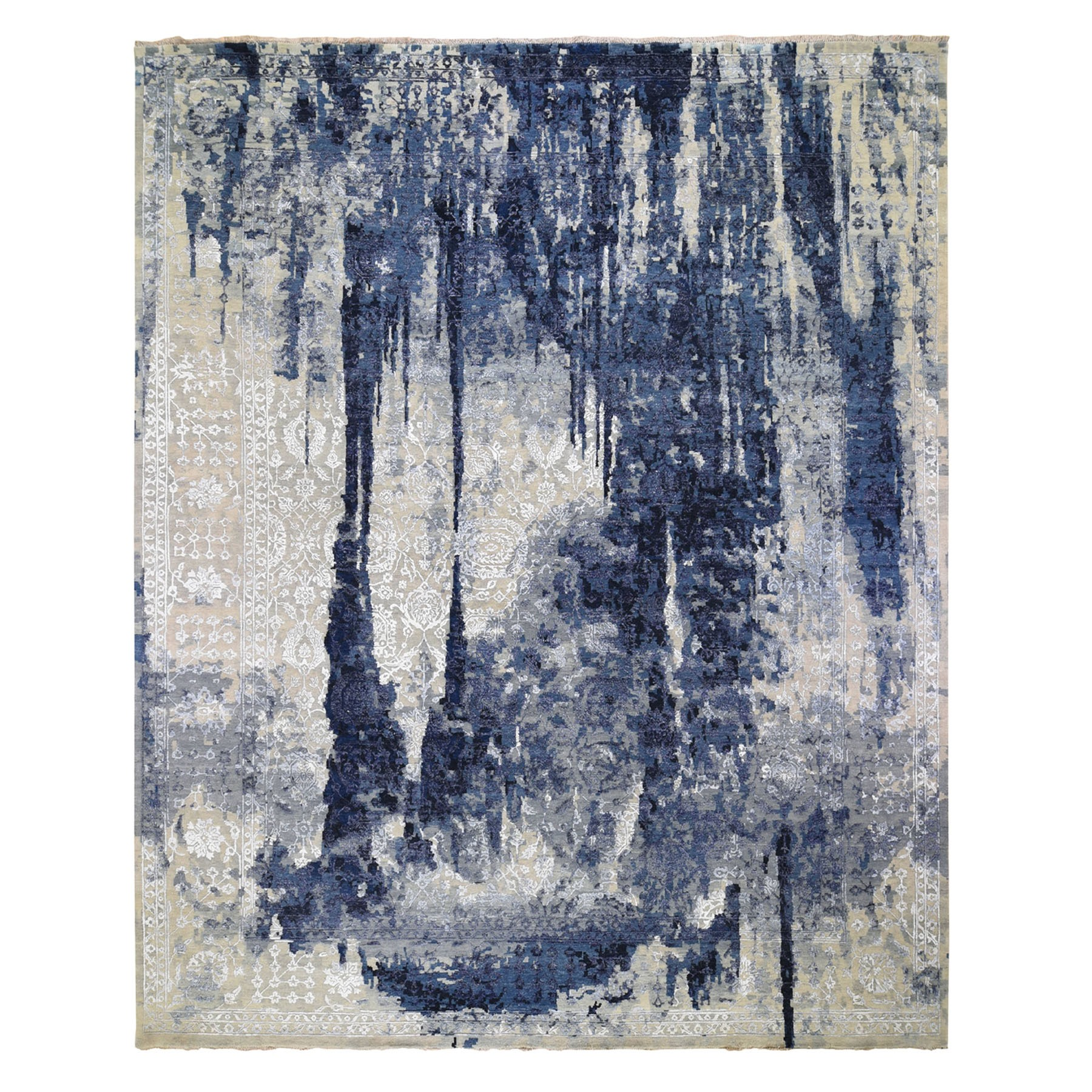 Transitional Hand Knotted Blue Rug No: 0196406