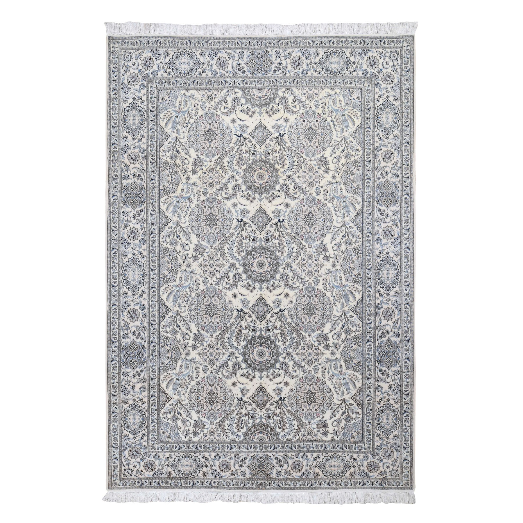 Pirniakan Collection Hand Knotted Ivory Rug No: 0196378