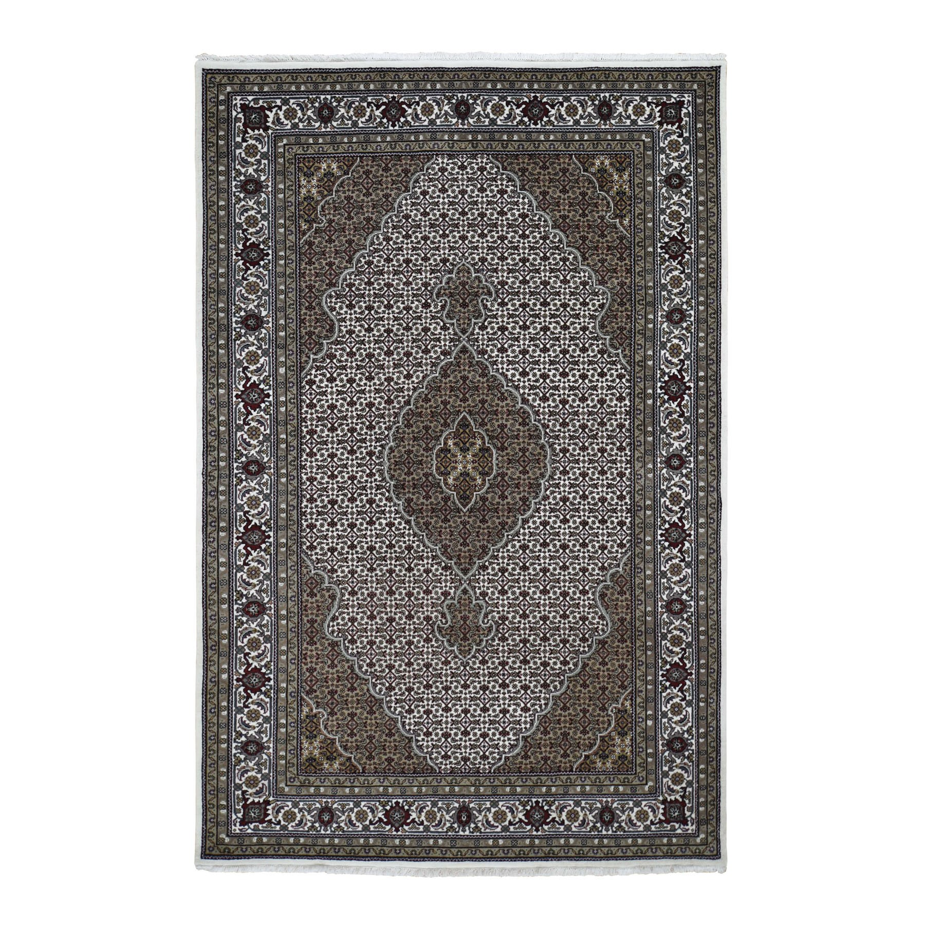 Pirniakan Collection Hand Knotted Ivory Rug No: 0196366