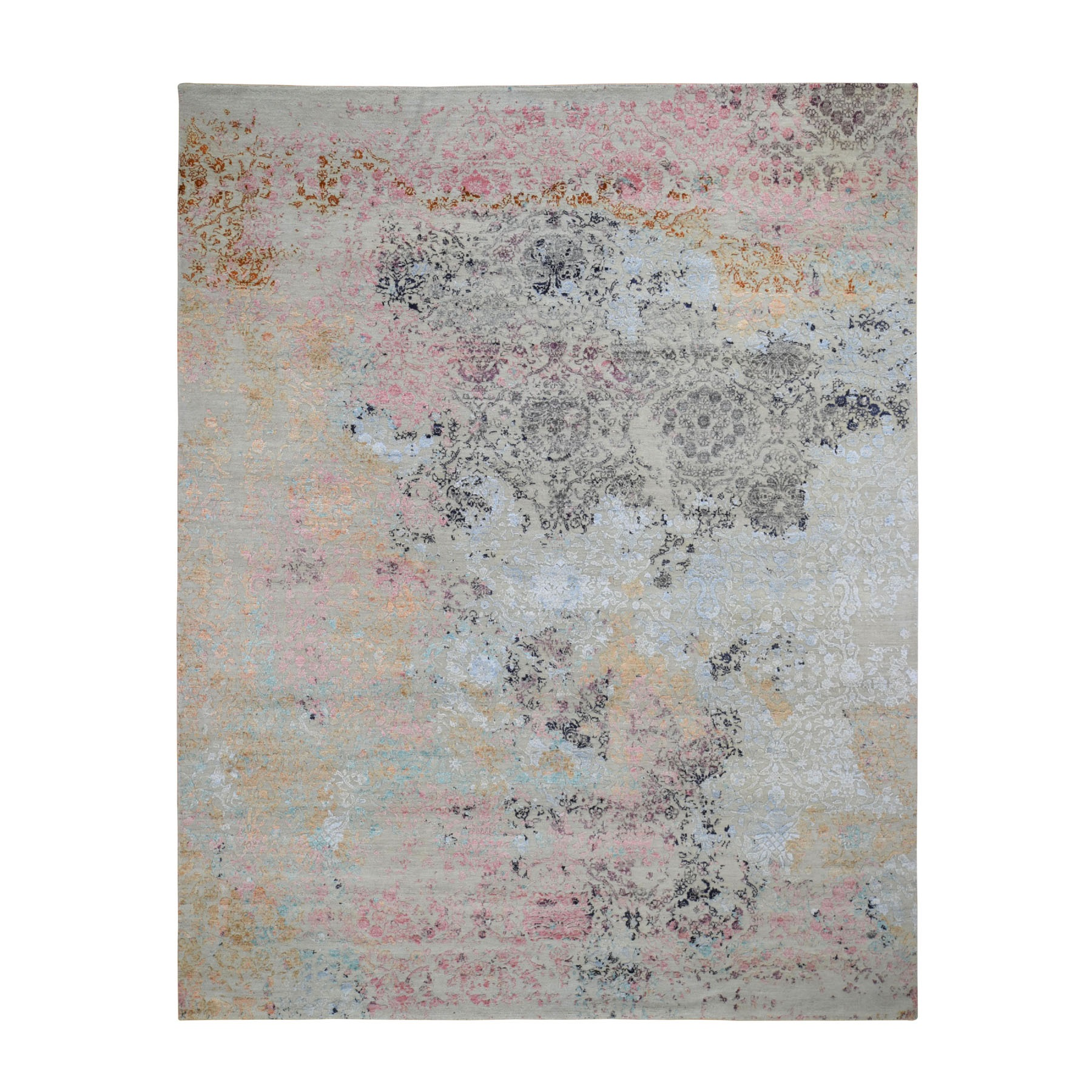 Transitional Hand Knotted Beige Rug No: 0196422