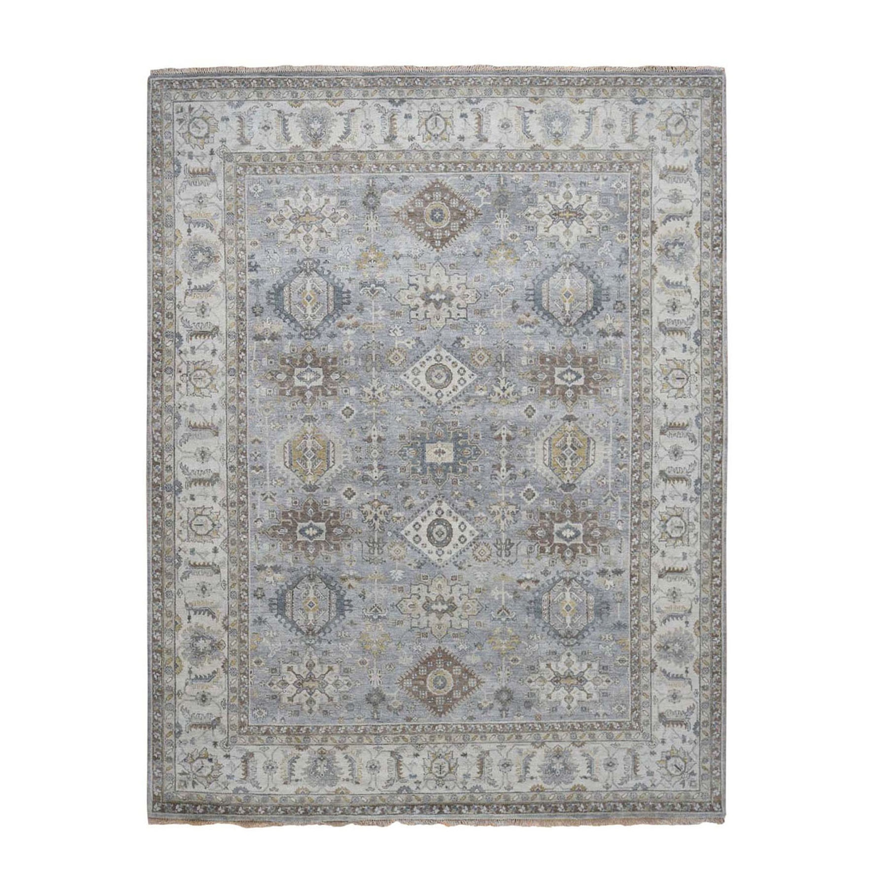 Serapi Heriz and Bakhshayesh Collection Hand Knotted Grey Rug No: 0196474