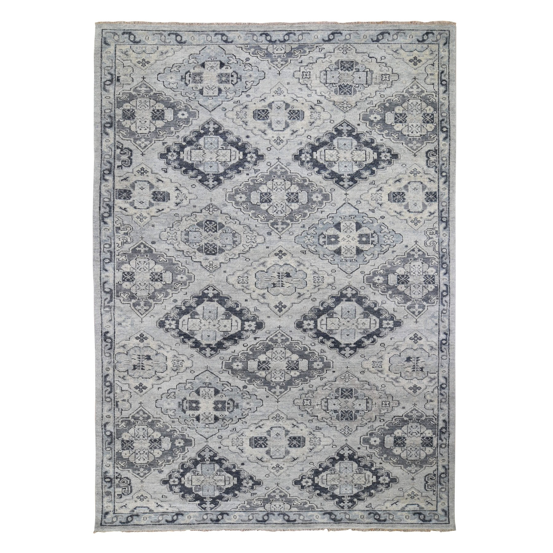 Nomadic And Village Collection Hand Knotted Grey Rug No: 0196482