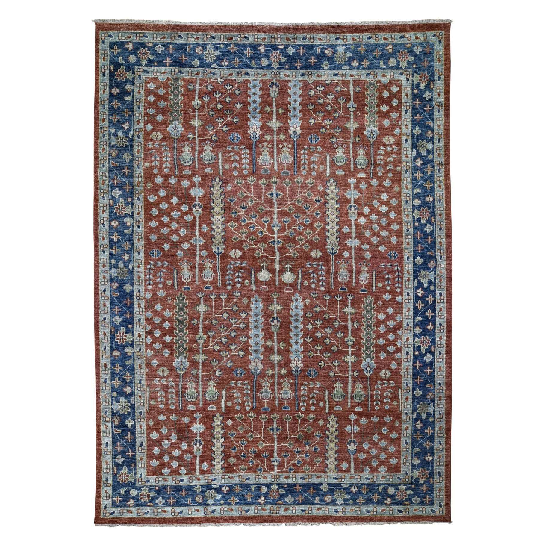 Nomadic And Village Collection Hand Knotted Red Rug No: 0196484