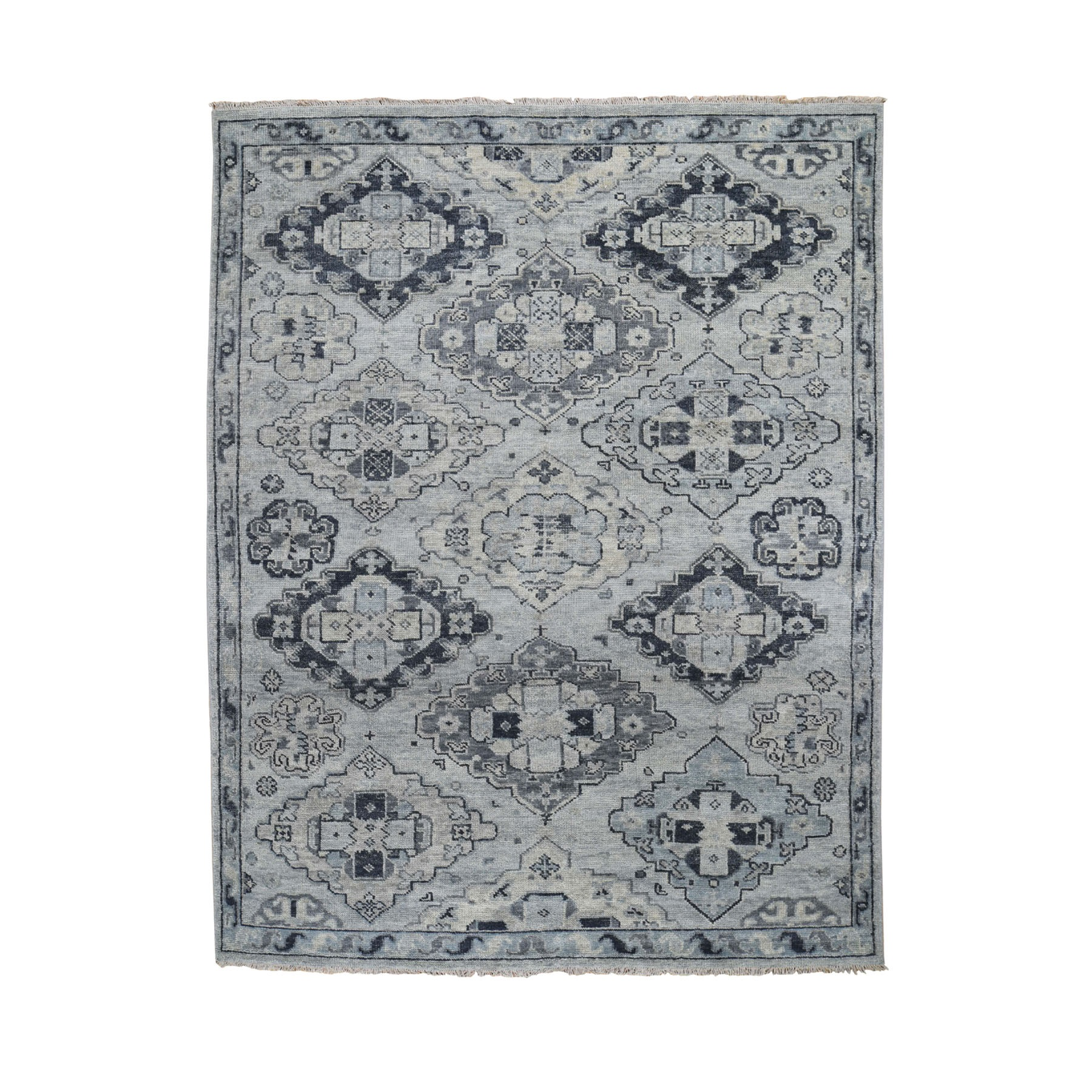 Nomadic And Village Collection Hand Knotted Grey Rug No: 0196504
