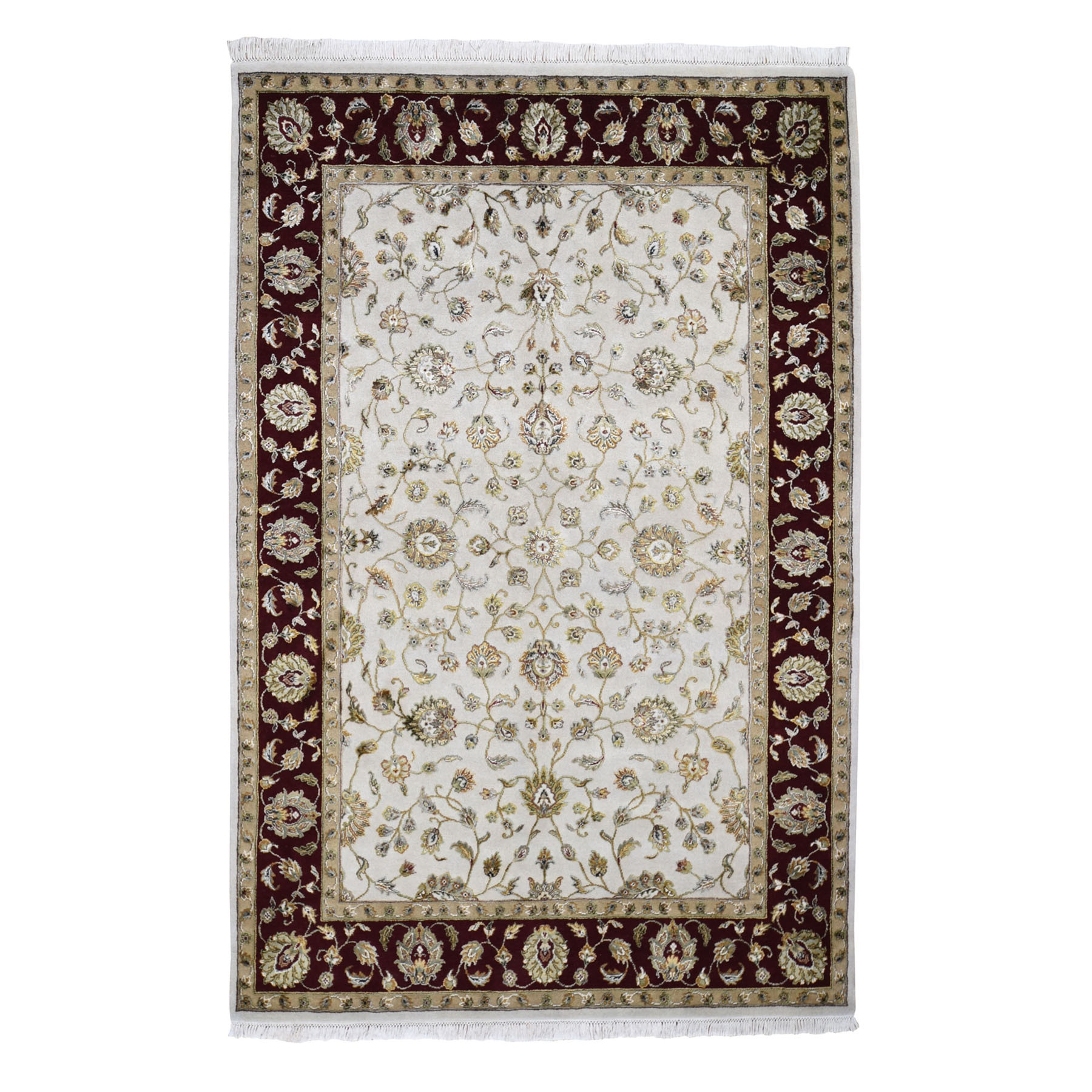 Pahlavi Collection Hand Knotted Grey Rug No: 0196556