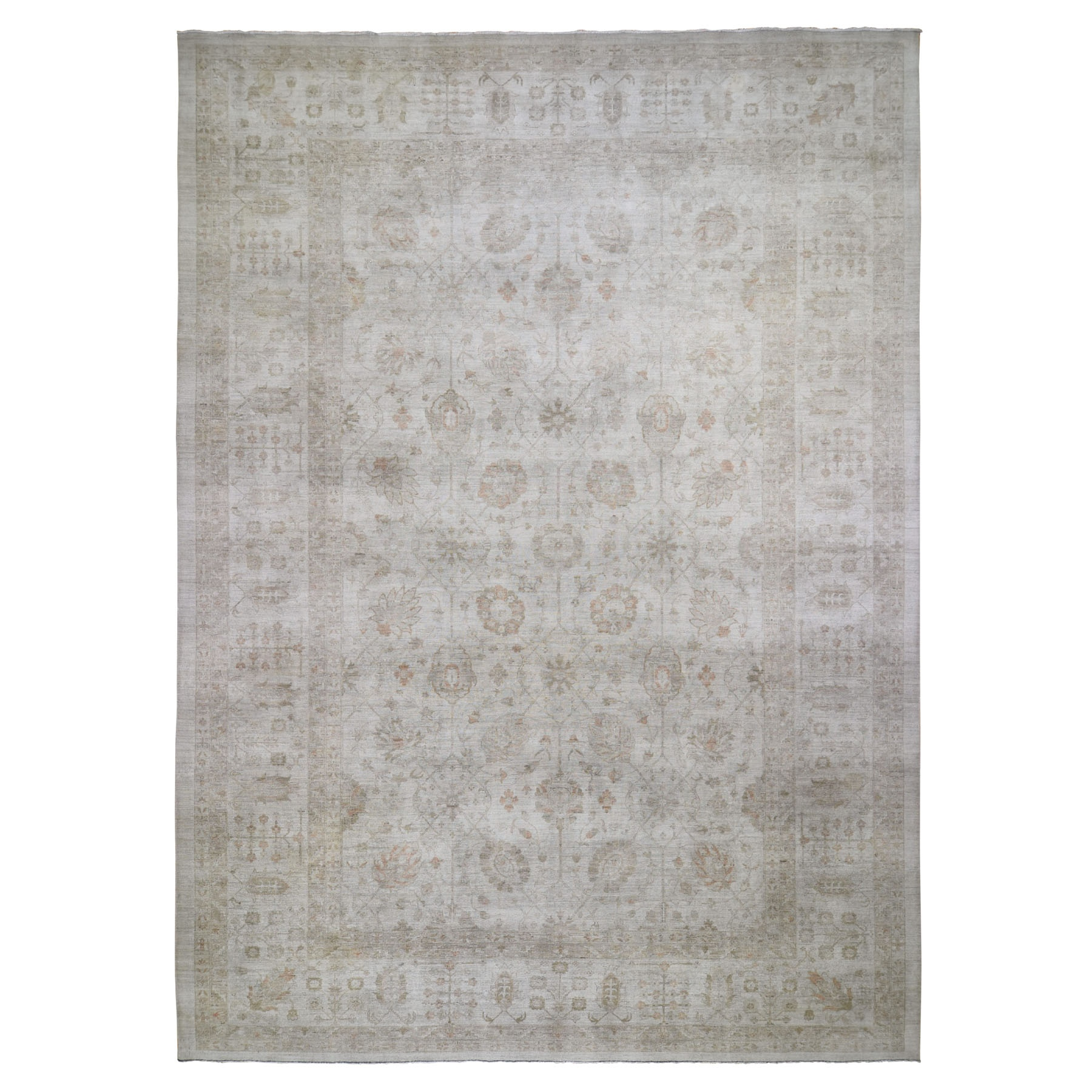 Deep discounted Collection Hand Knotted Grey Rug No: 0196544