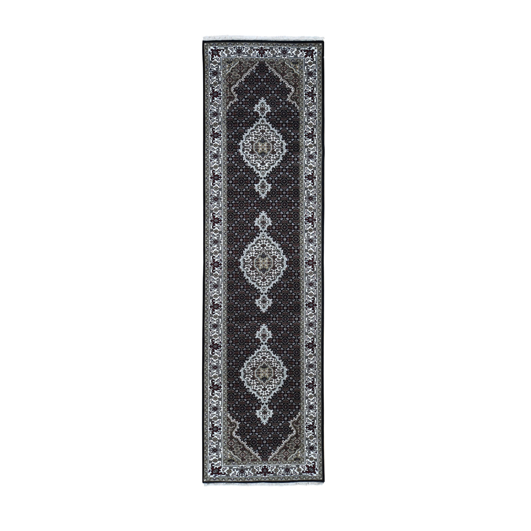Pirniakan Collection Hand Knotted Black Rug No: 0196636