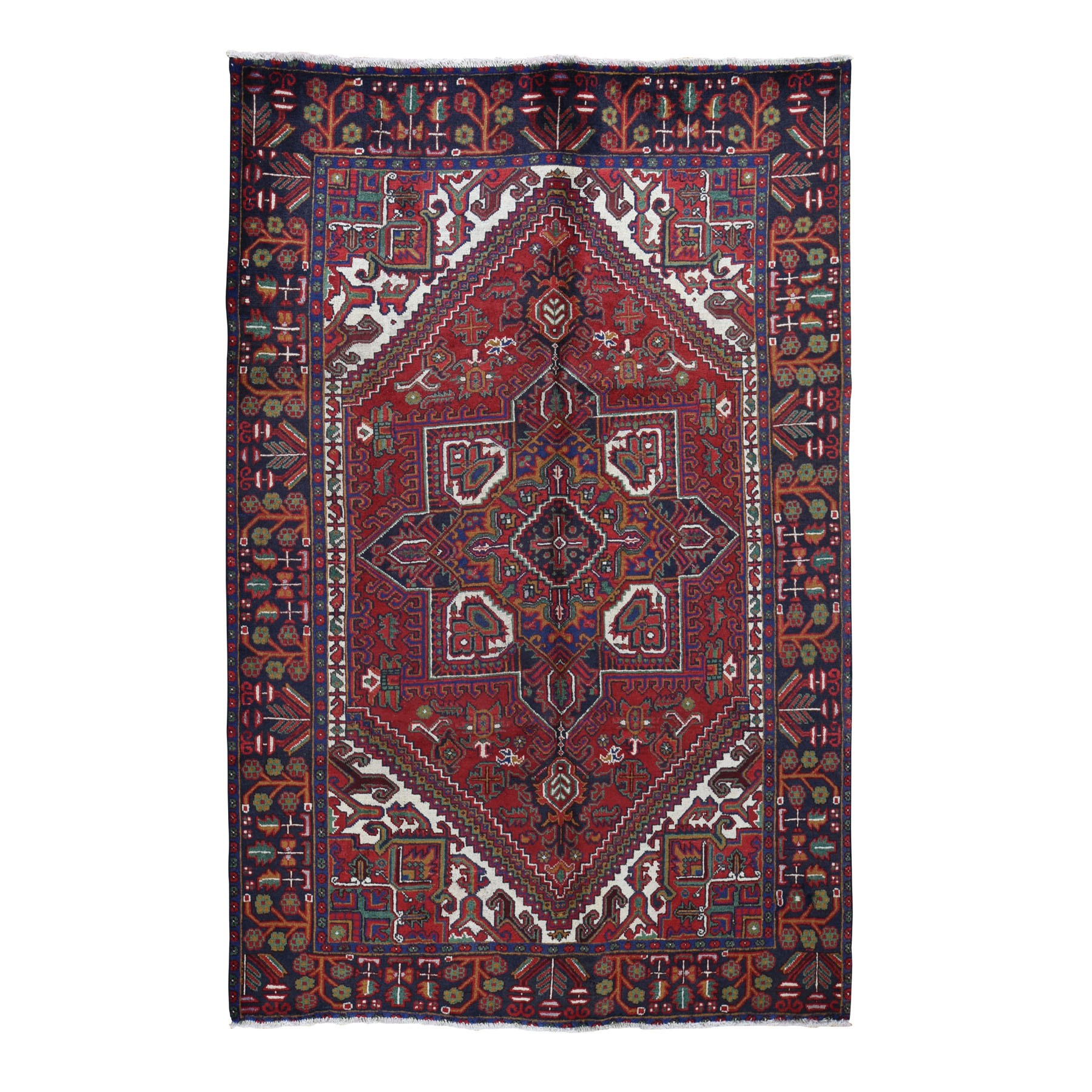 Serapi Heriz and Bakhshayesh Collection Hand Knotted Red Rug No: 0196670
