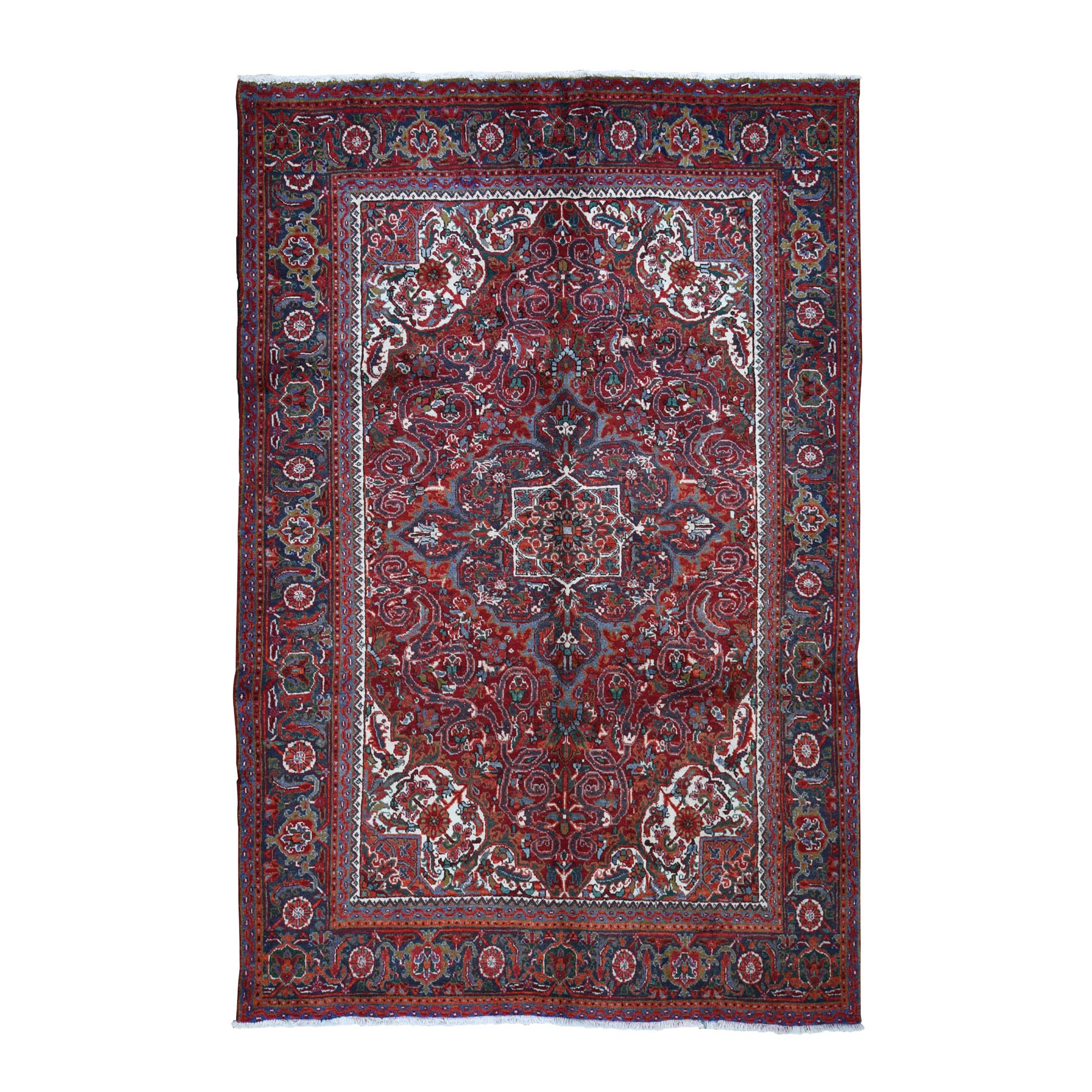 Serapi Heriz and Bakhshayesh Collection Hand Knotted Red Rug No: 0196676