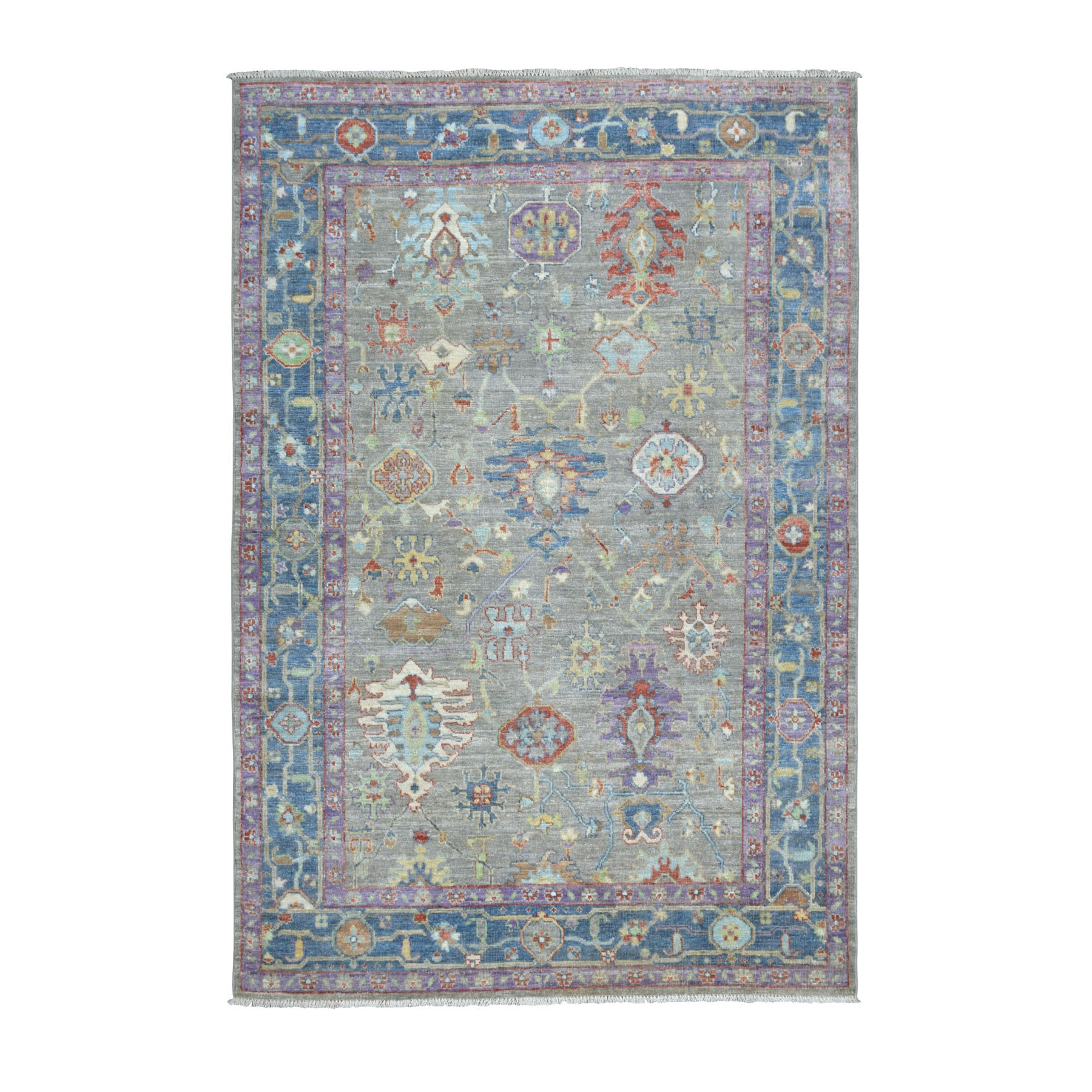 Agra And Turkish Collection Hand Knotted Grey Rug No: 01107144