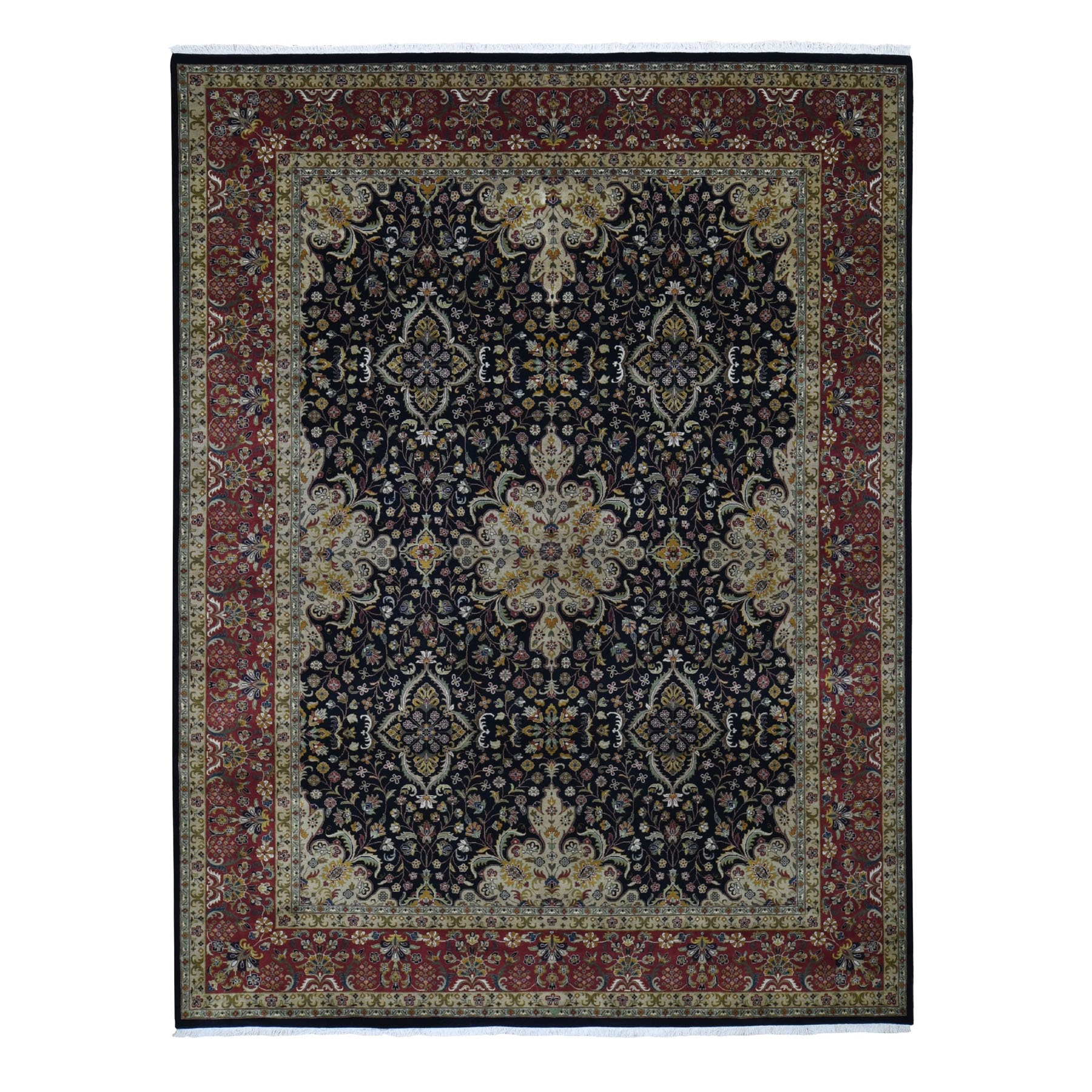 Pirniakan Collection Hand Knotted Black Rug No: 0196694