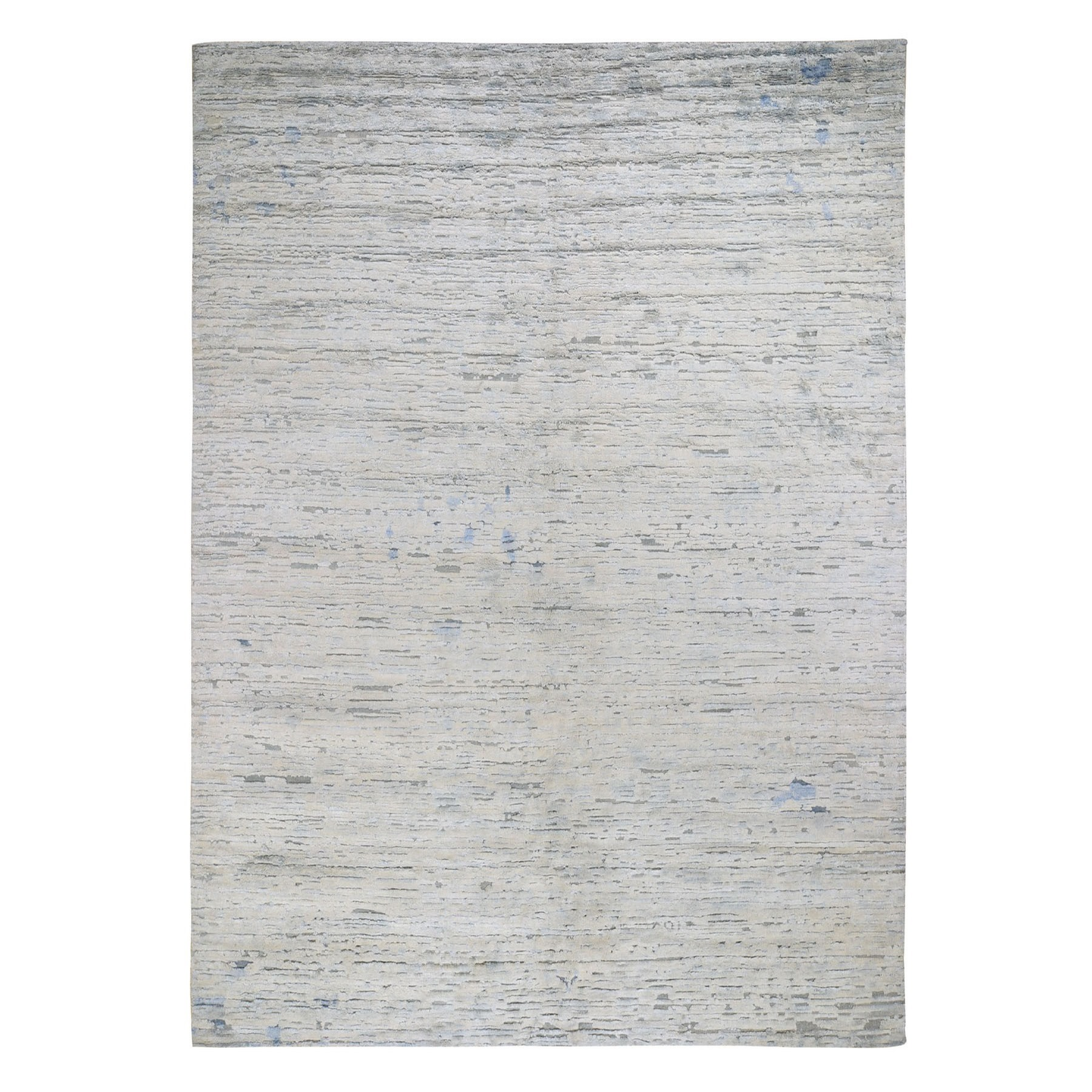 Mid Century Modern Collection Hand Knotted Ivory Rug No: 0196704