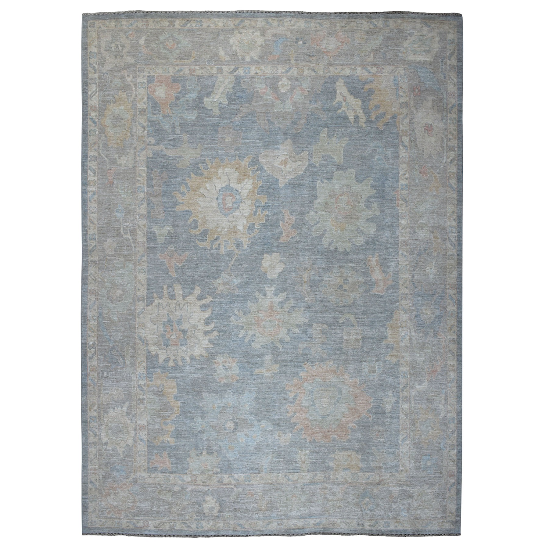 Agra And Turkish Collection Hand Knotted Grey Rug No: 01107168