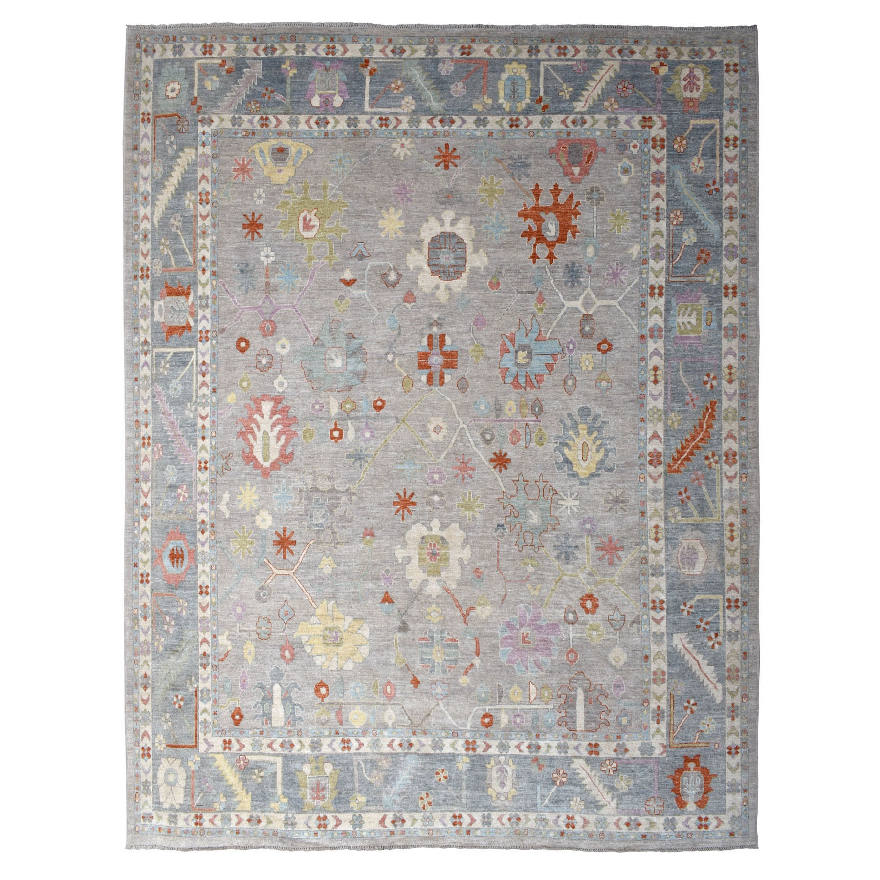 Agra And Turkish Collection Hand Knotted Grey Rug No: 01107178