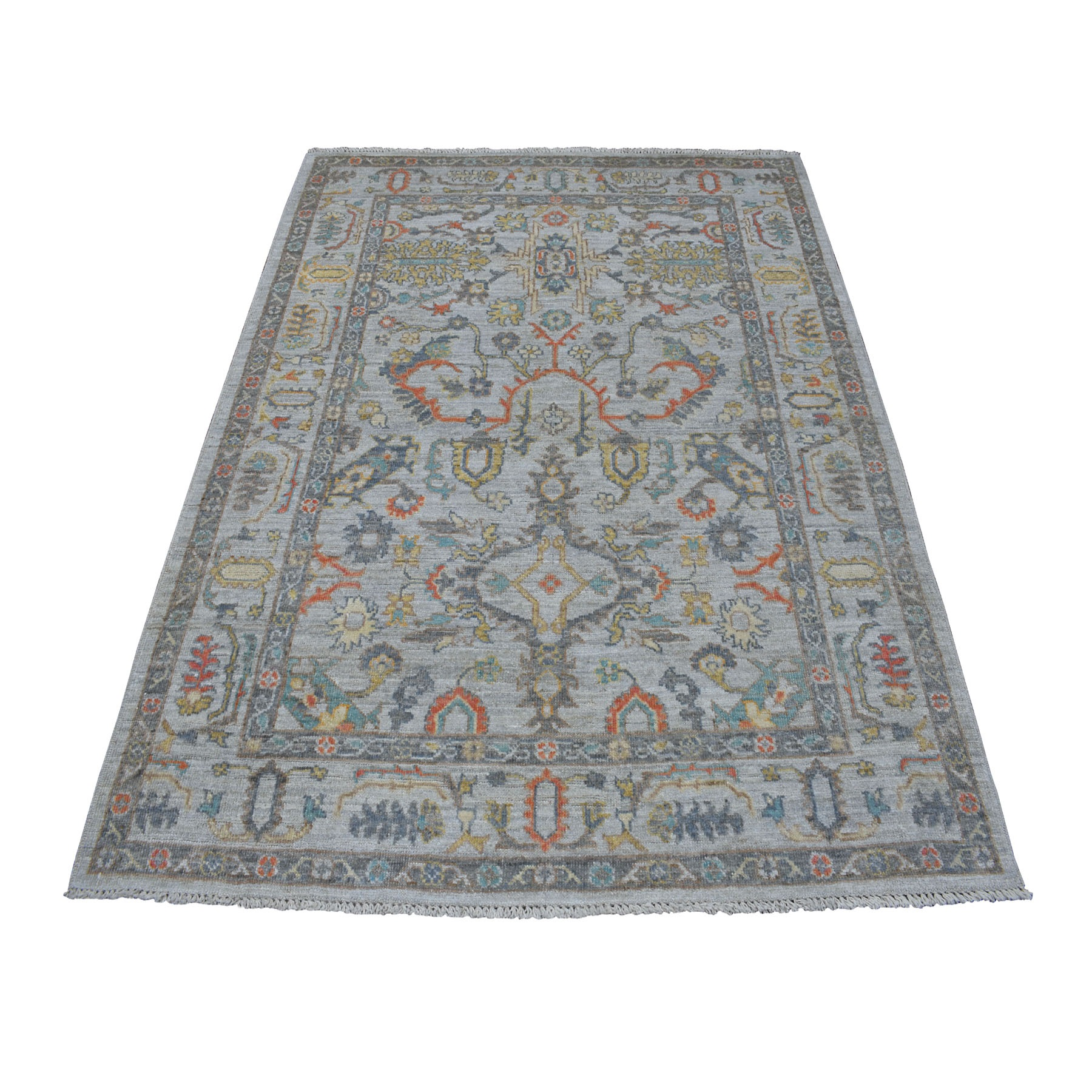 Agra And Turkish Collection Hand Knotted Grey Rug No: 01107186