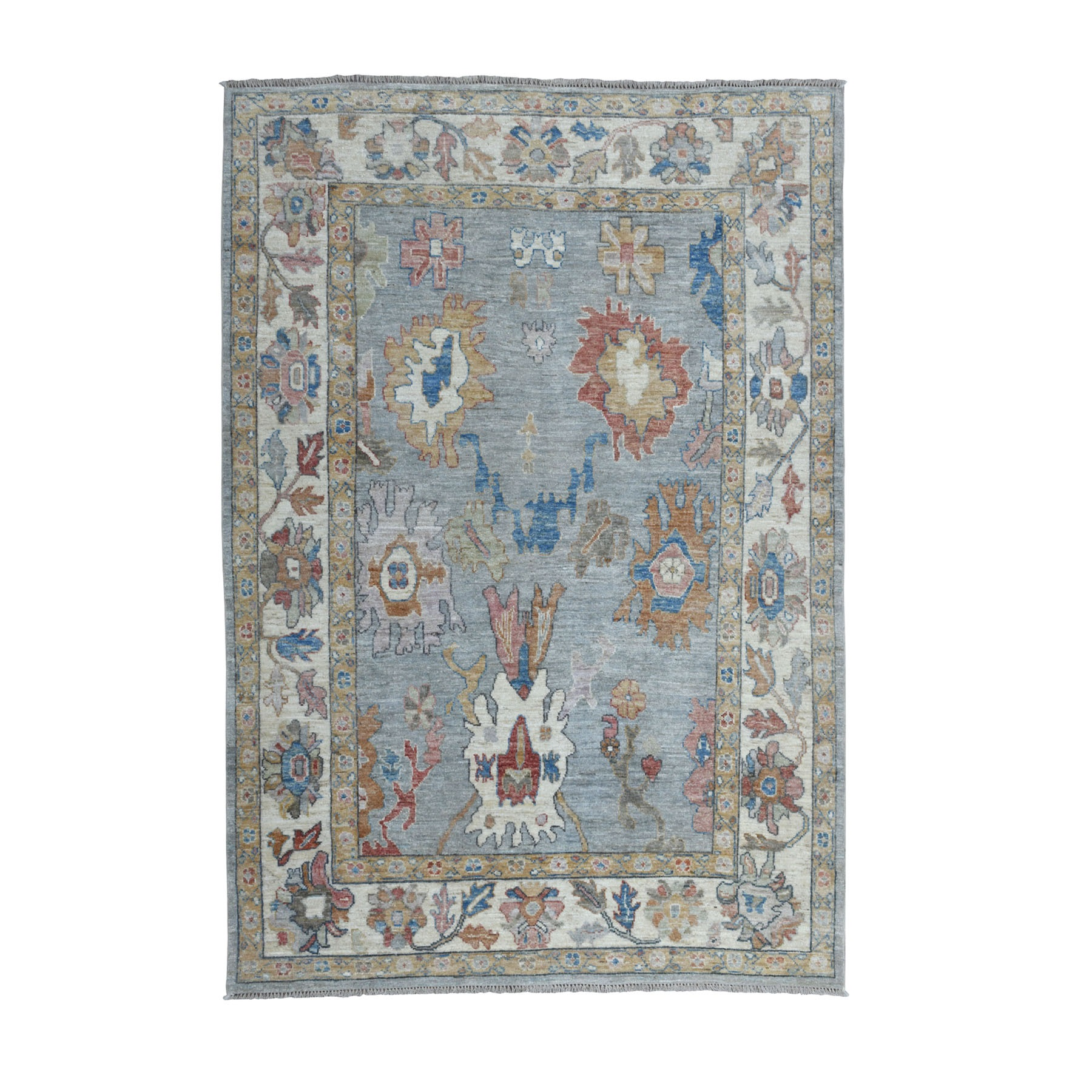 Agra And Turkish Collection Hand Knotted Grey Rug No: 01107188