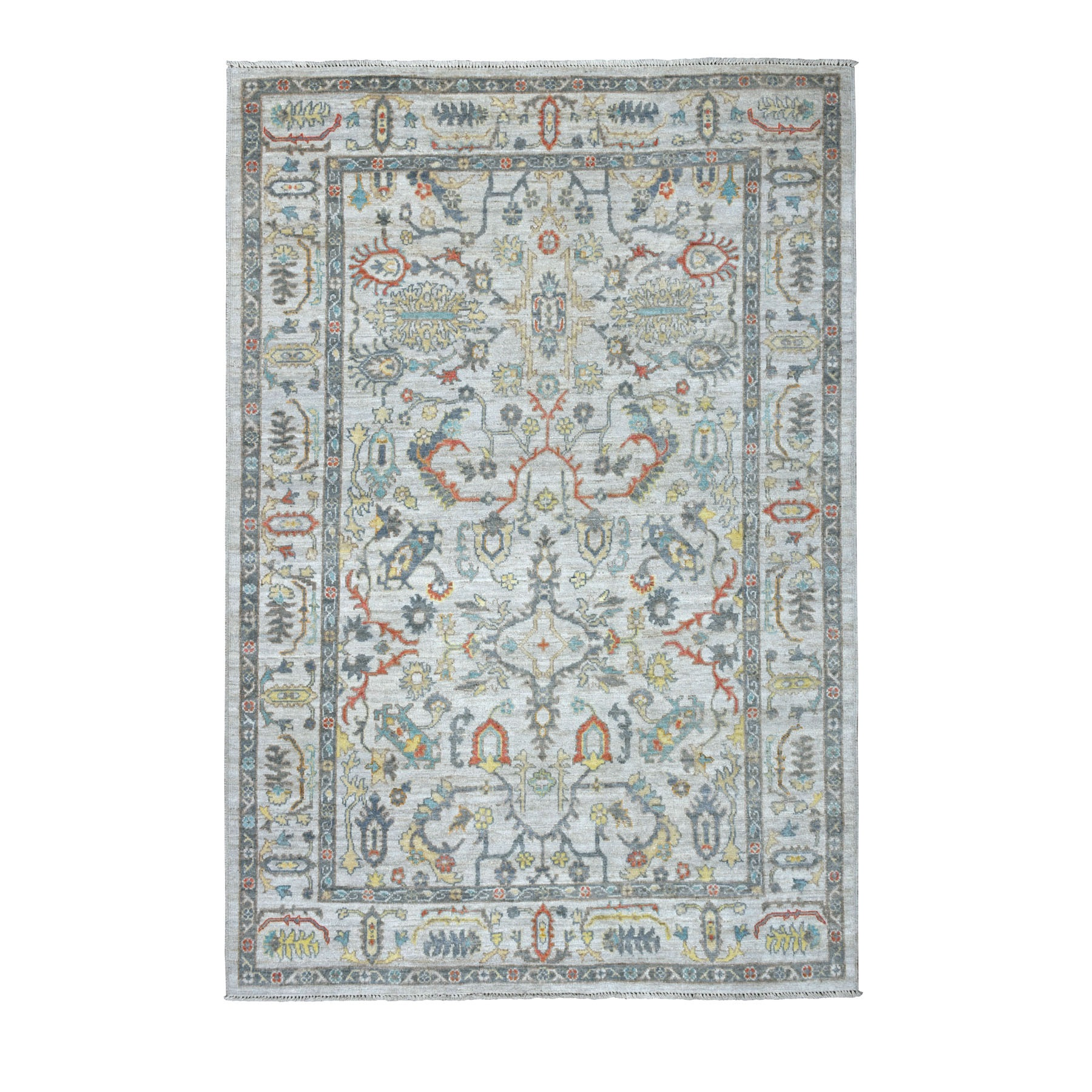 Agra And Turkish Collection Hand Knotted Grey Rug No: 01107194