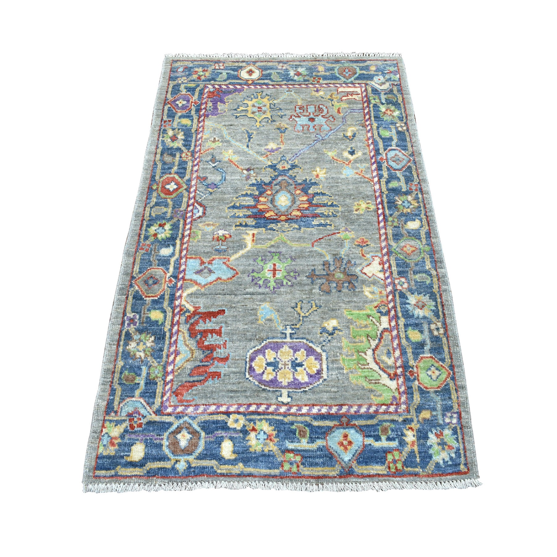 Agra And Turkish Collection Hand Knotted Grey Rug No: 01107204