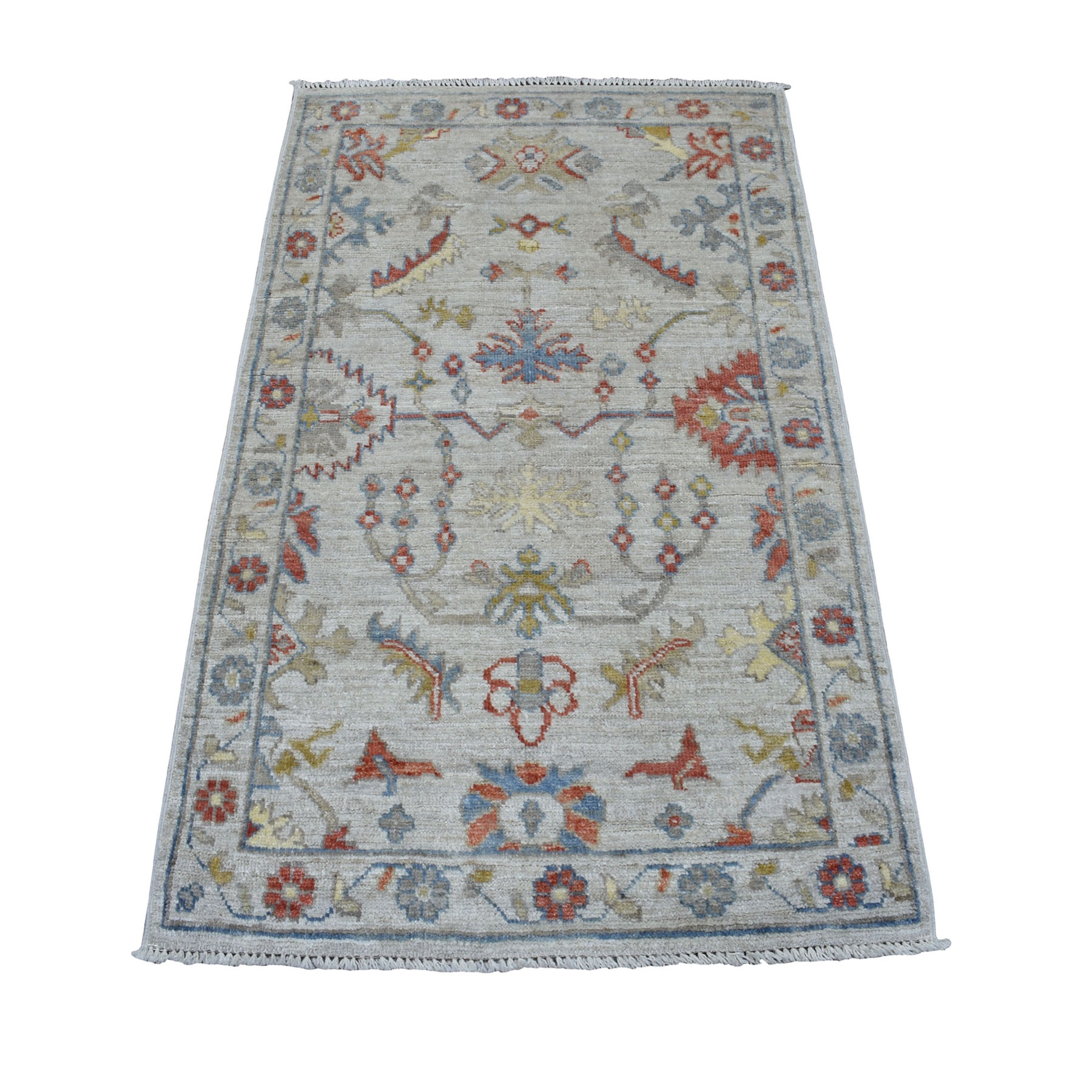 Agra And Turkish Collection Hand Knotted Grey Rug No: 01107202