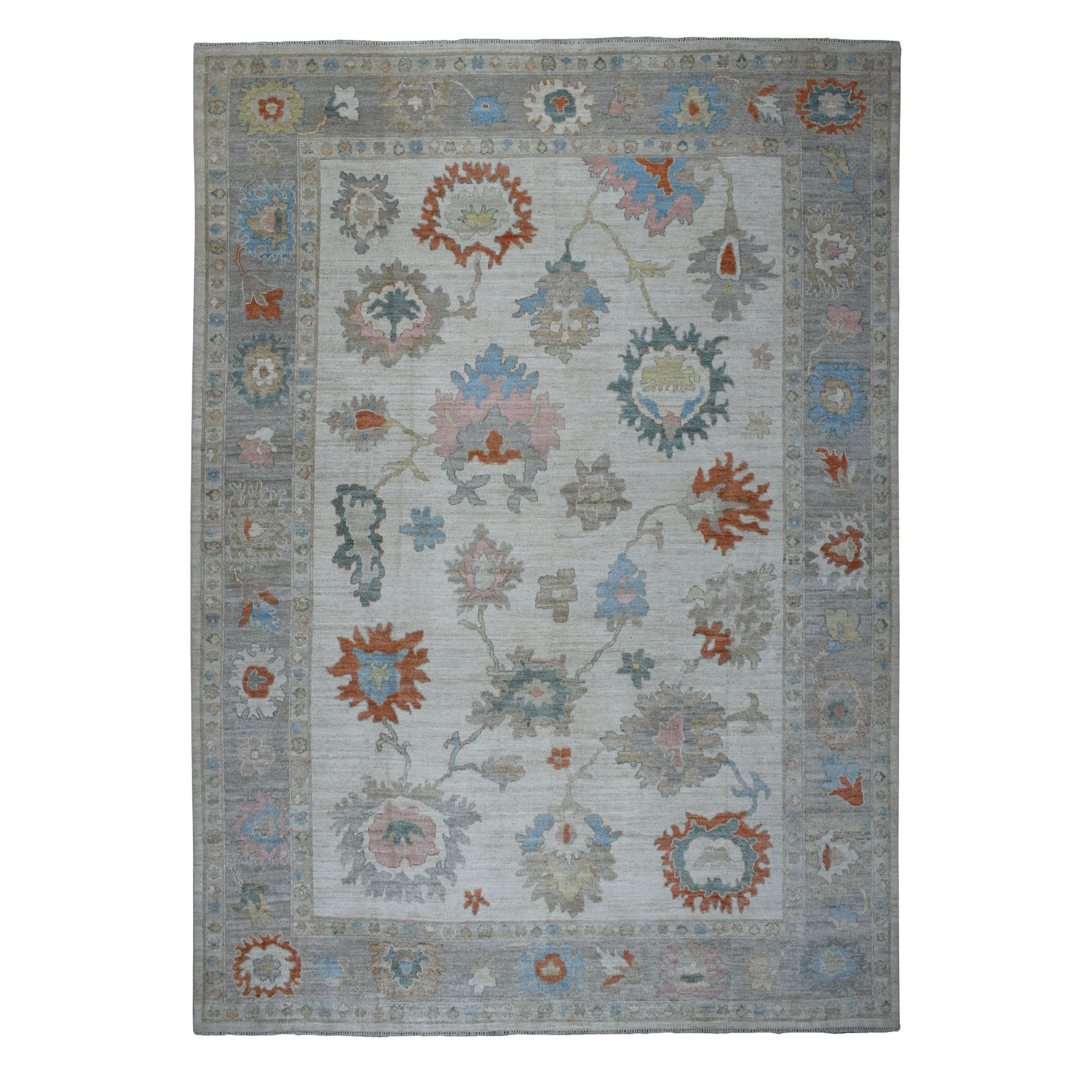 Agra And Turkish Collection Hand Knotted Grey Rug No: 01107220