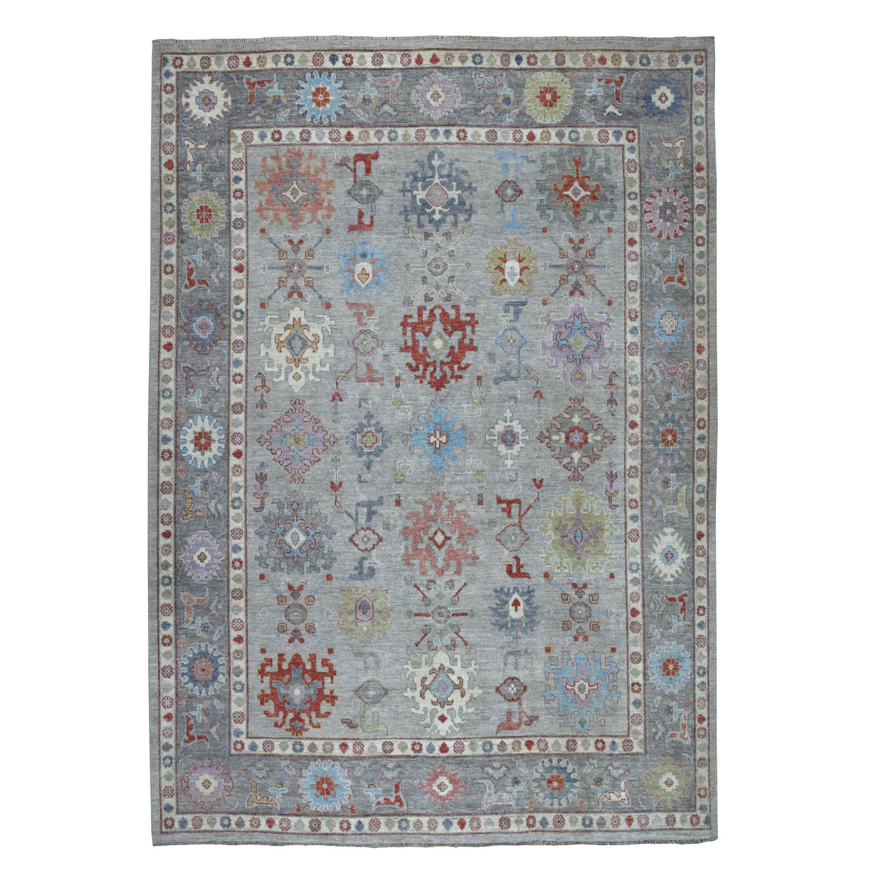 Agra And Turkish Collection Hand Knotted Grey Rug No: 01107222