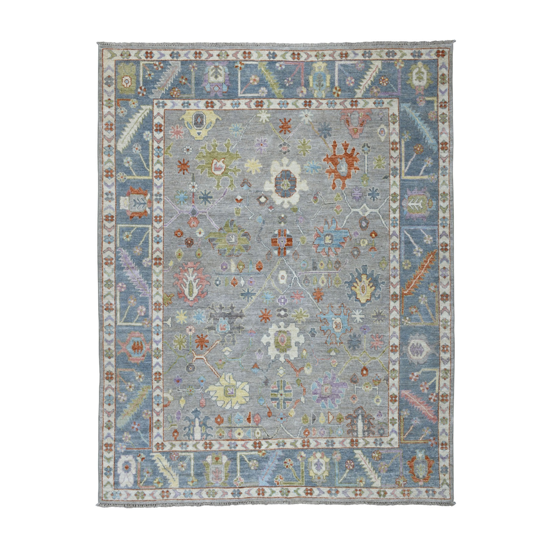 Agra And Turkish Collection Hand Knotted Grey Rug No: 01107230