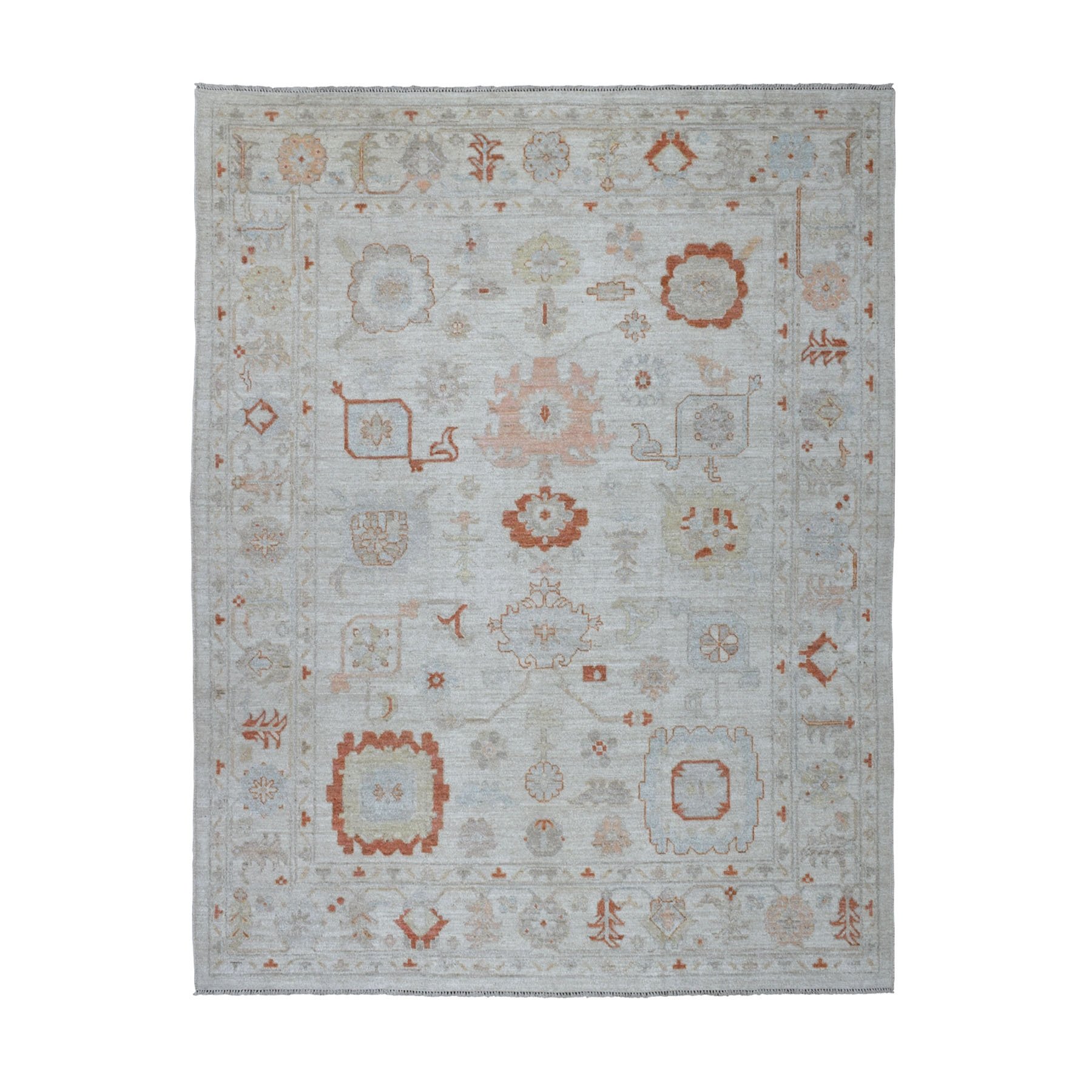 Agra And Turkish Collection Hand Knotted Ivory Rug No: 01107232