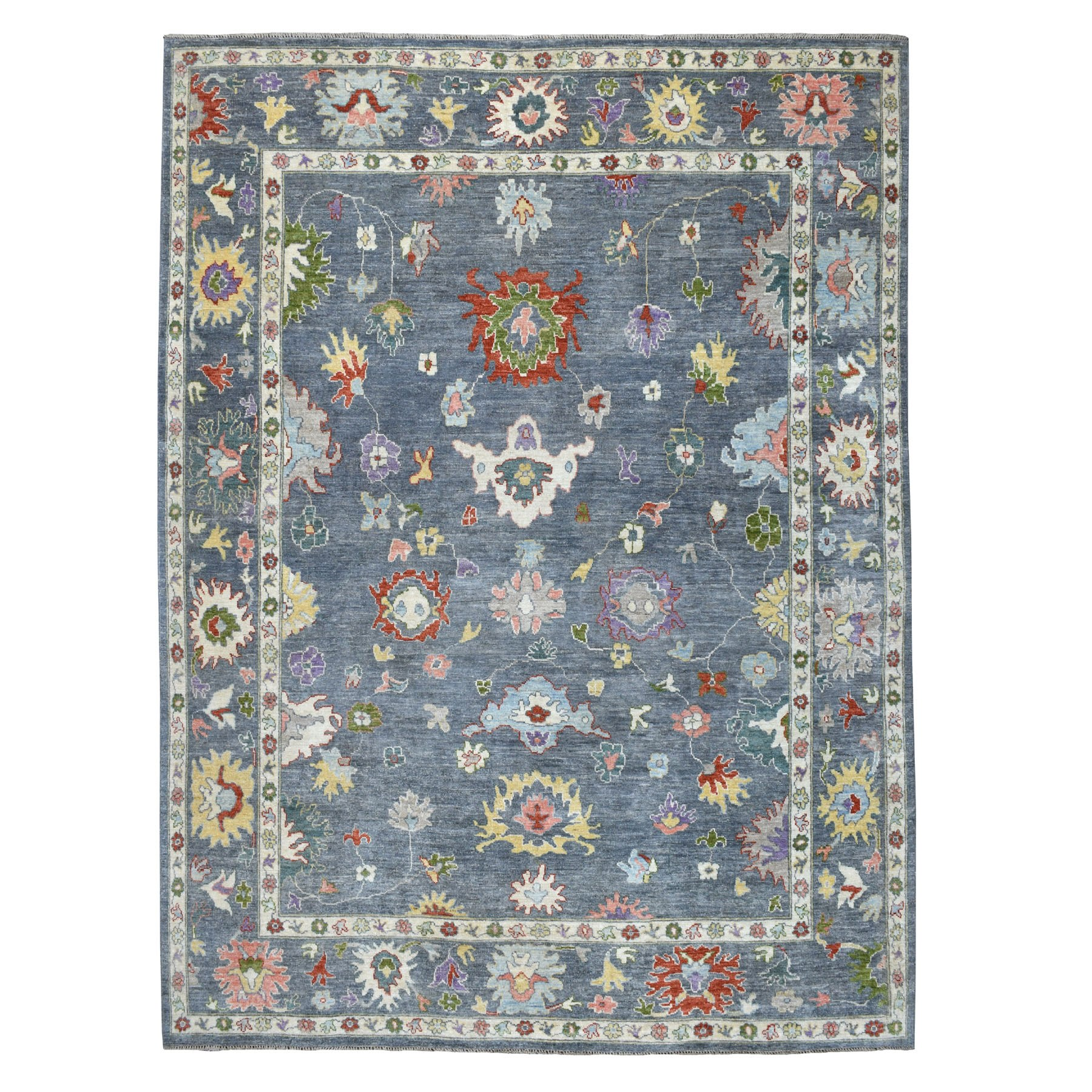 Agra And Turkish Collection Hand Knotted Grey Rug No: 01107244