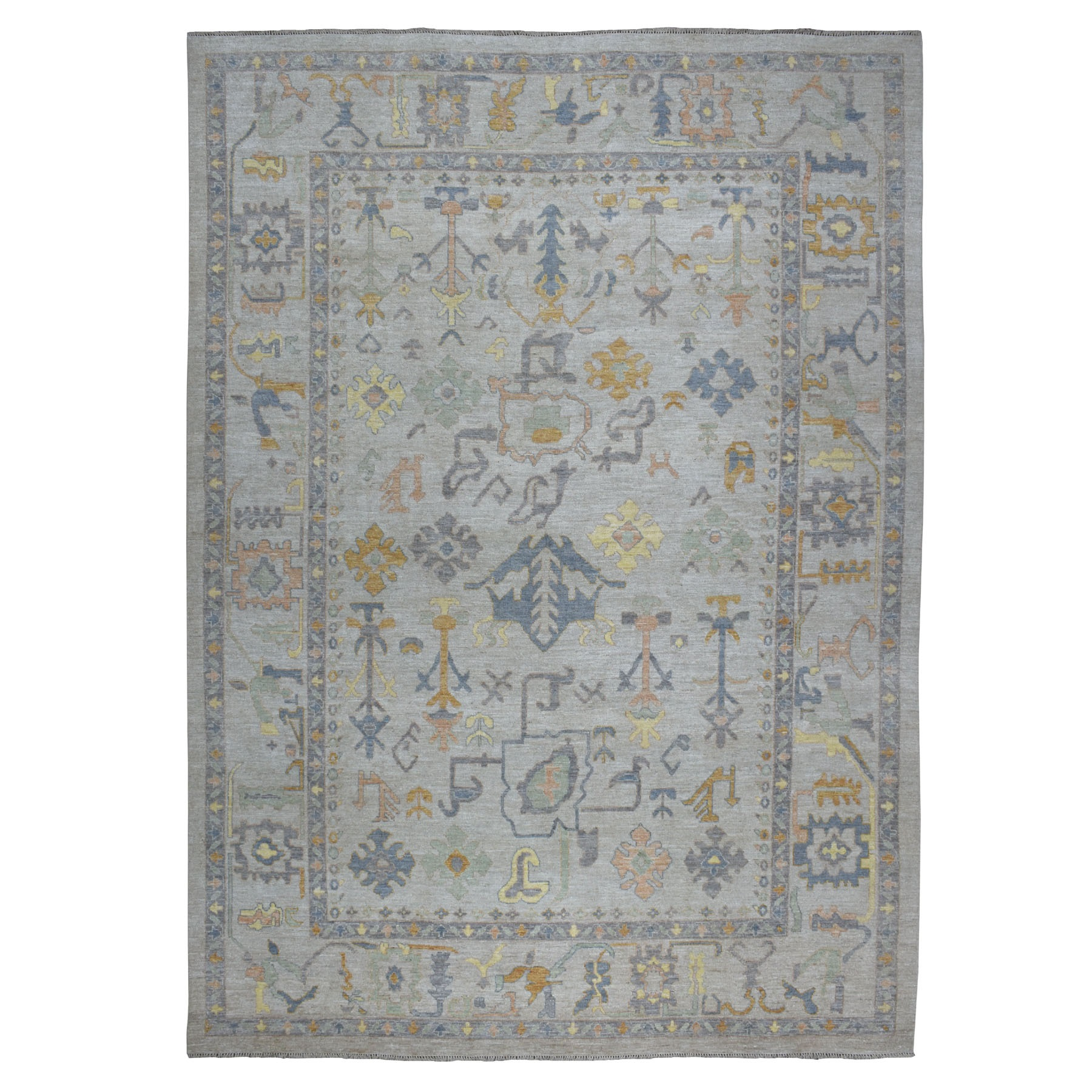 Agra And Turkish Collection Hand Knotted Grey Rug No: 01107250