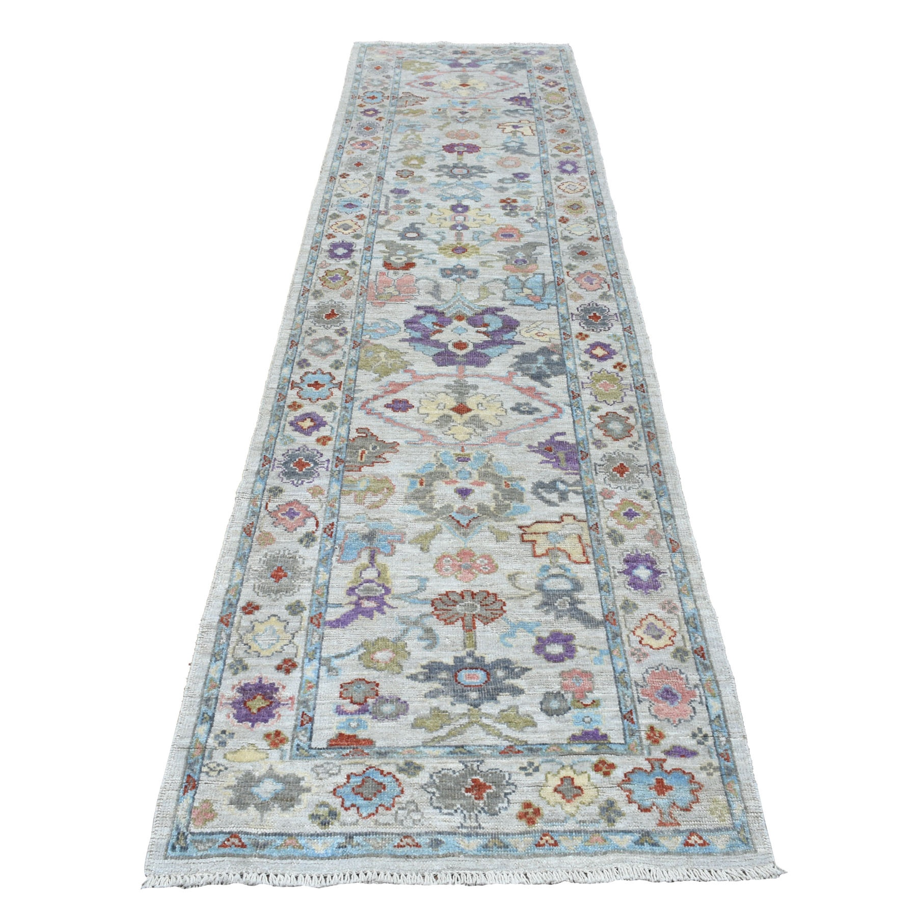 Agra And Turkish Collection Hand Knotted Grey Rug No: 01107258