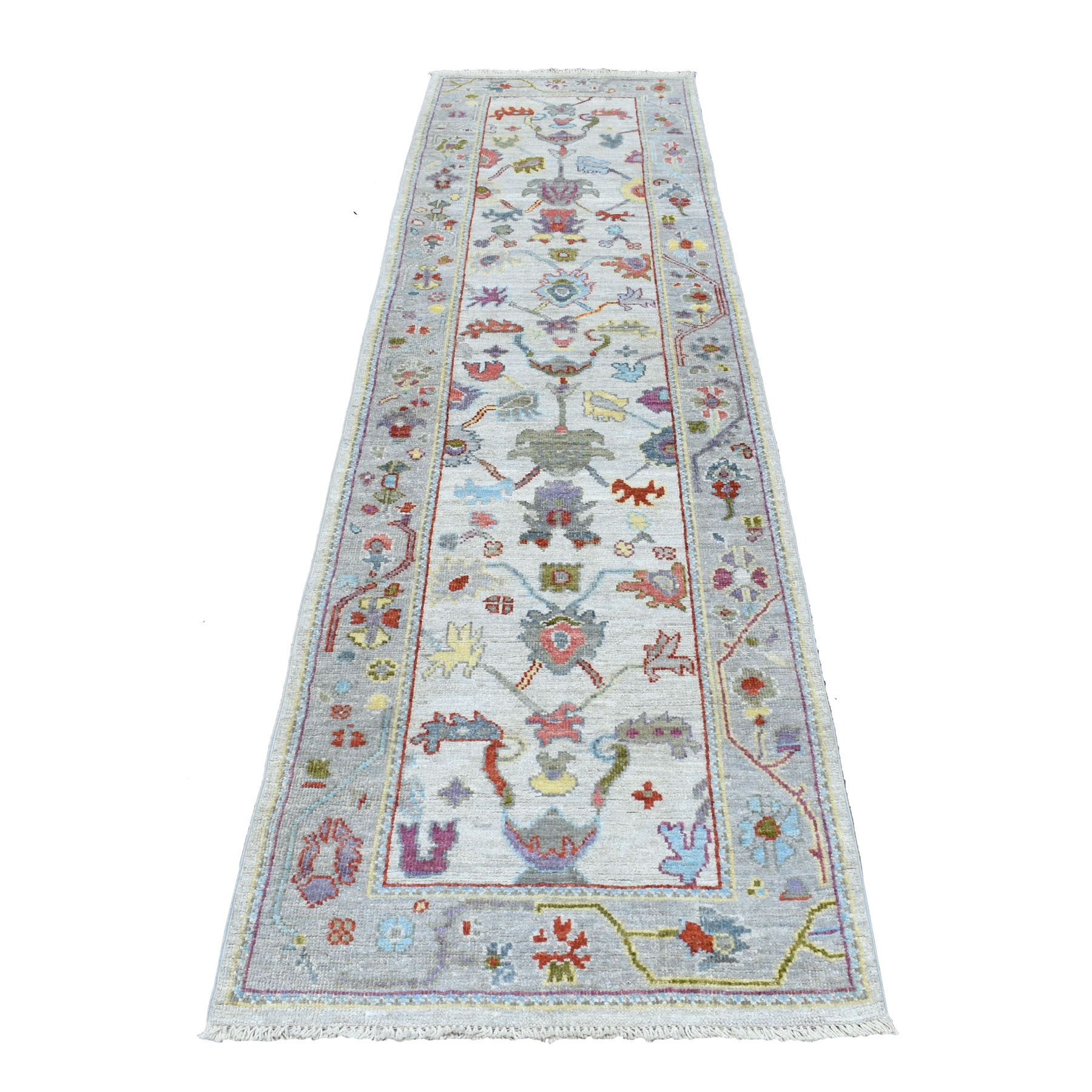 Agra And Turkish Collection Hand Knotted Ivory Rug No: 01107262