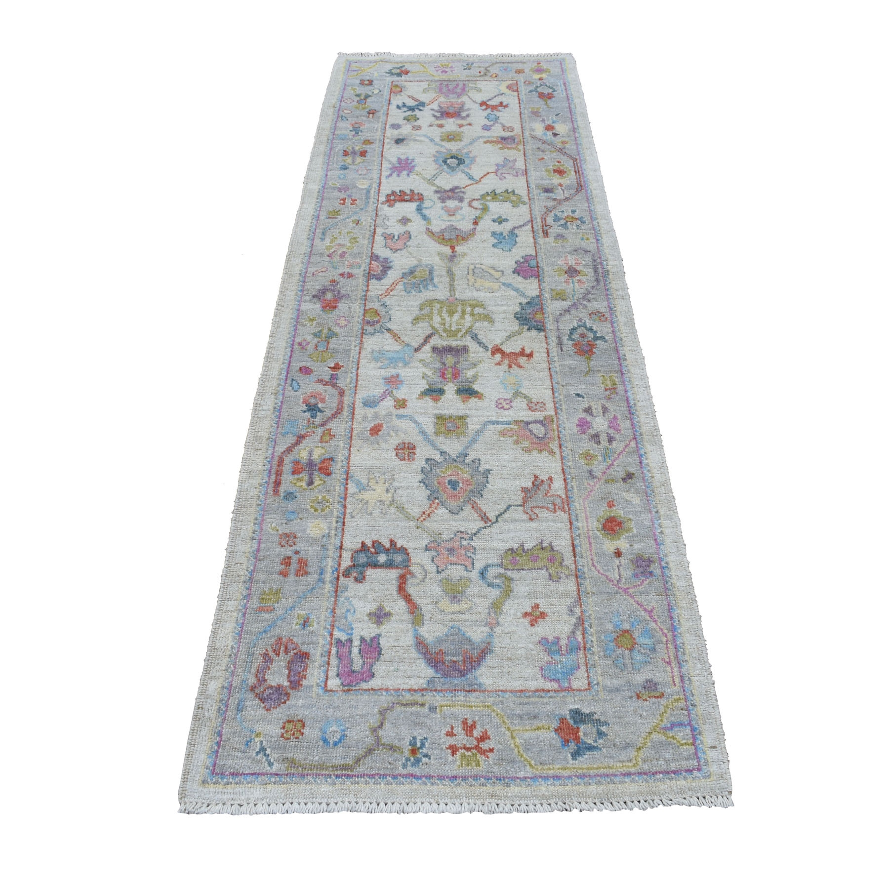 Agra And Turkish Collection Hand Knotted Grey Rug No: 01107266