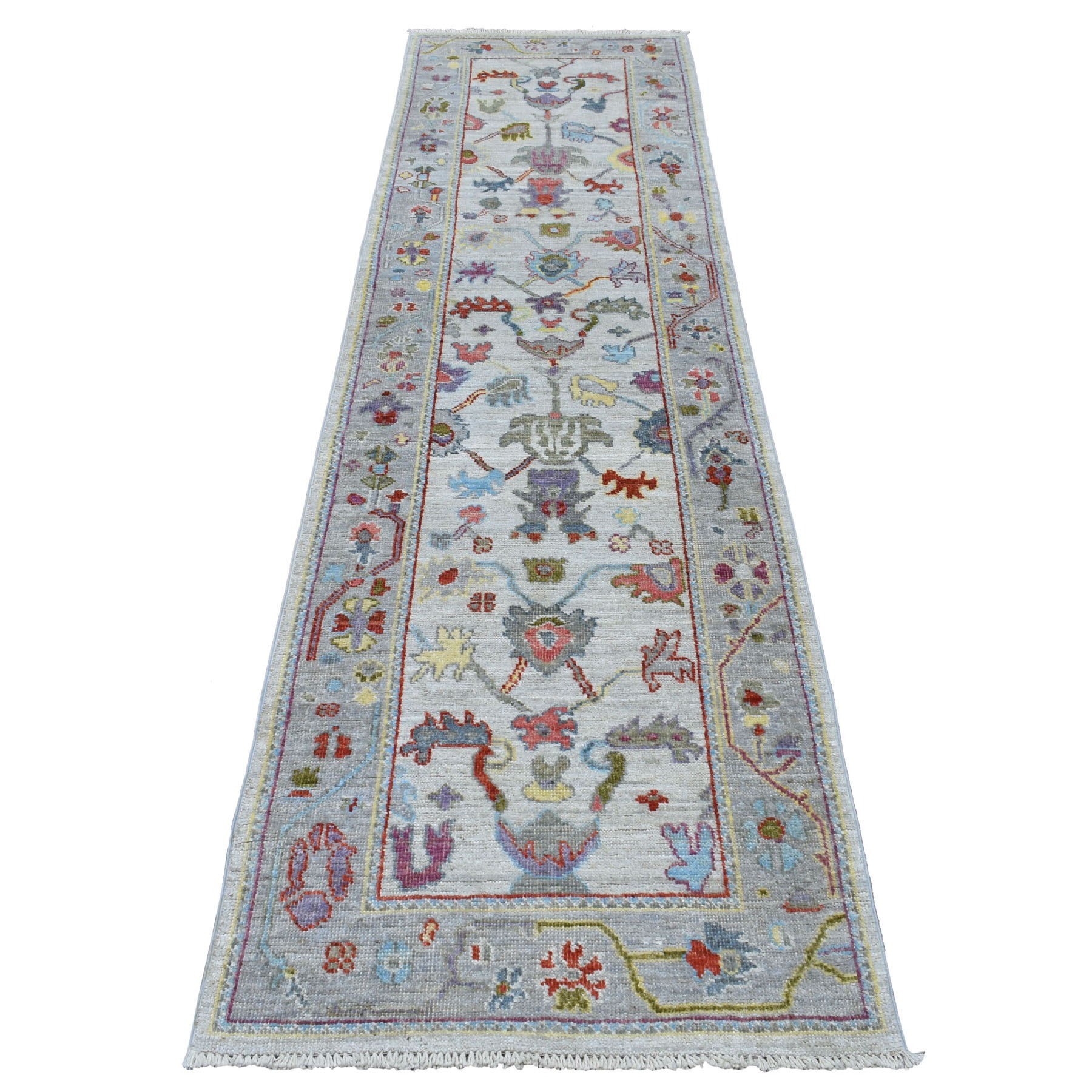 Agra And Turkish Collection Hand Knotted Ivory Rug No: 01107268