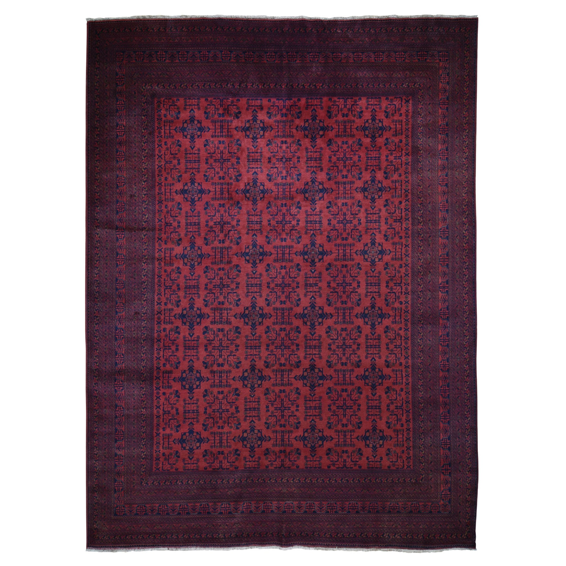 Nomadic And Village Collection Hand Knotted Red Rug No: 0196690