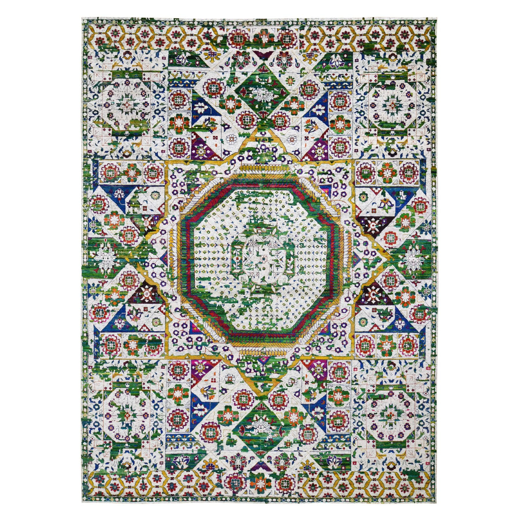 Intricate Collection Hand Knotted Ivory Rug No: 0196720