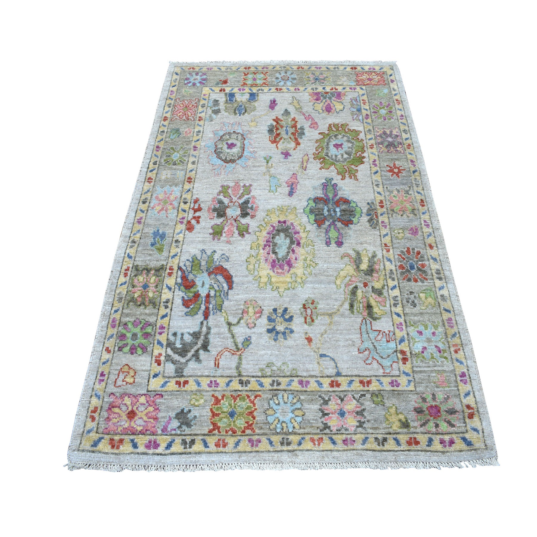 Agra And Turkish Collection Hand Knotted Grey Rug No: 01107274