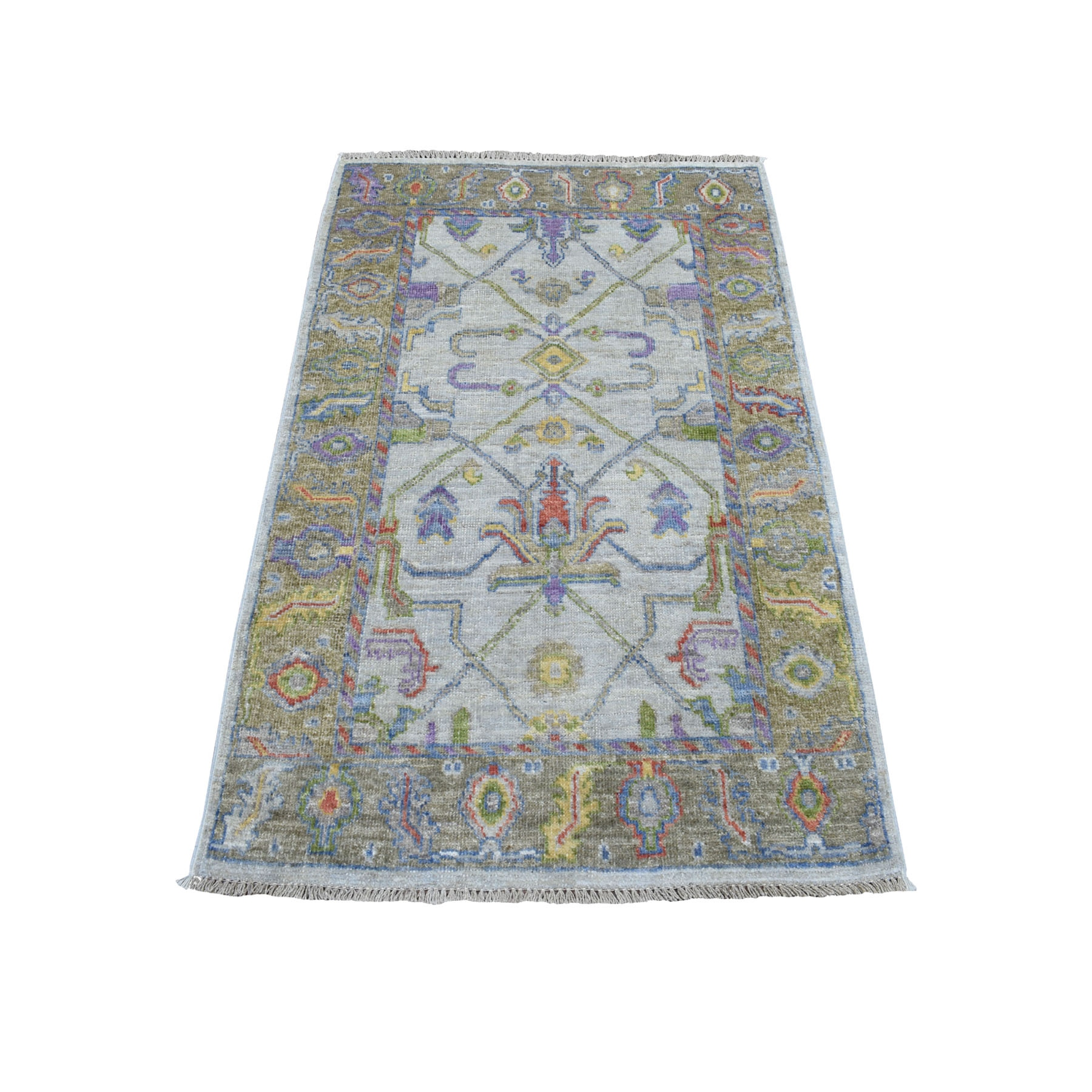Agra And Turkish Collection Hand Knotted Grey Rug No: 01107276