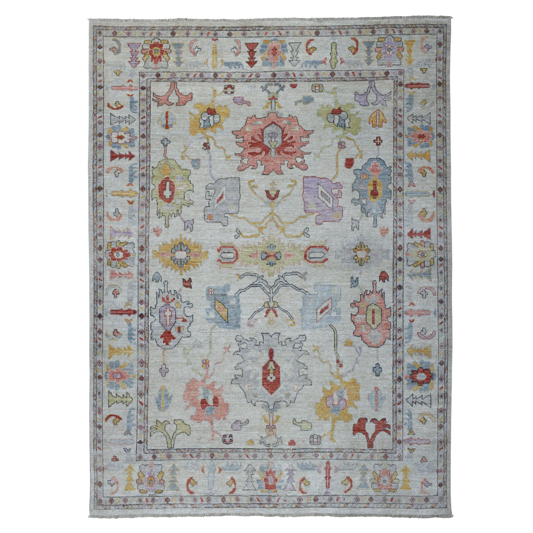 Agra And Turkish Collection Hand Knotted Grey Rug No: 01107278