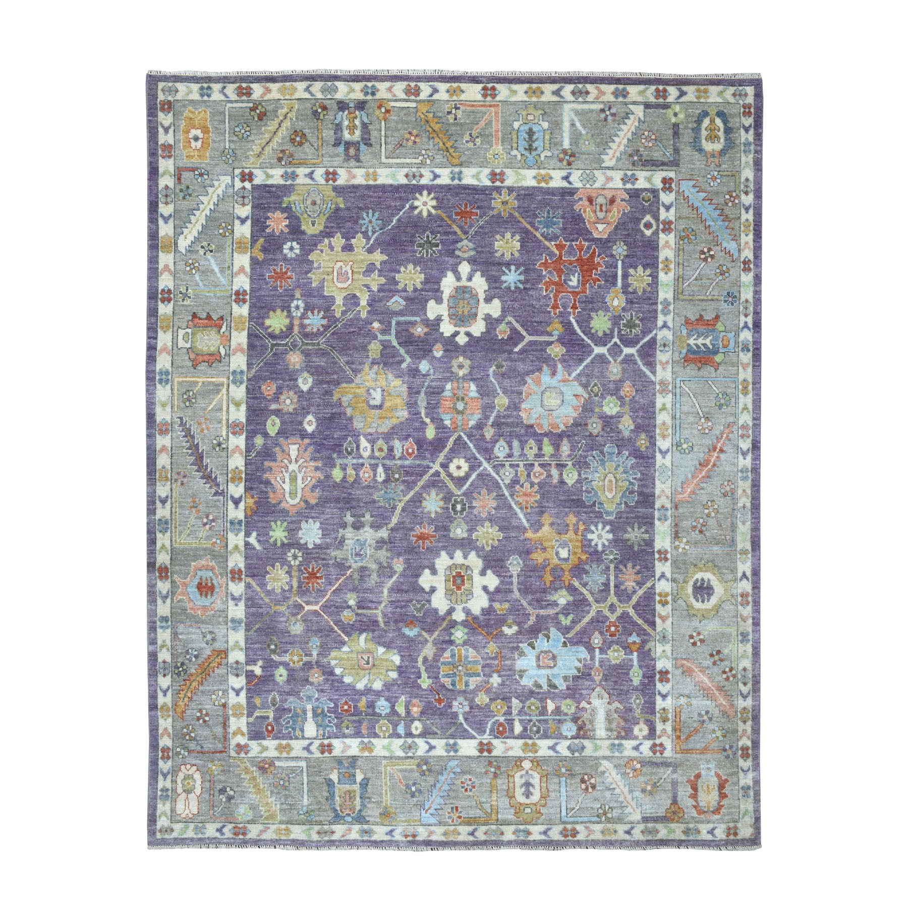 Agra And Turkish Collection Hand Knotted Purple Rug No: 01107286