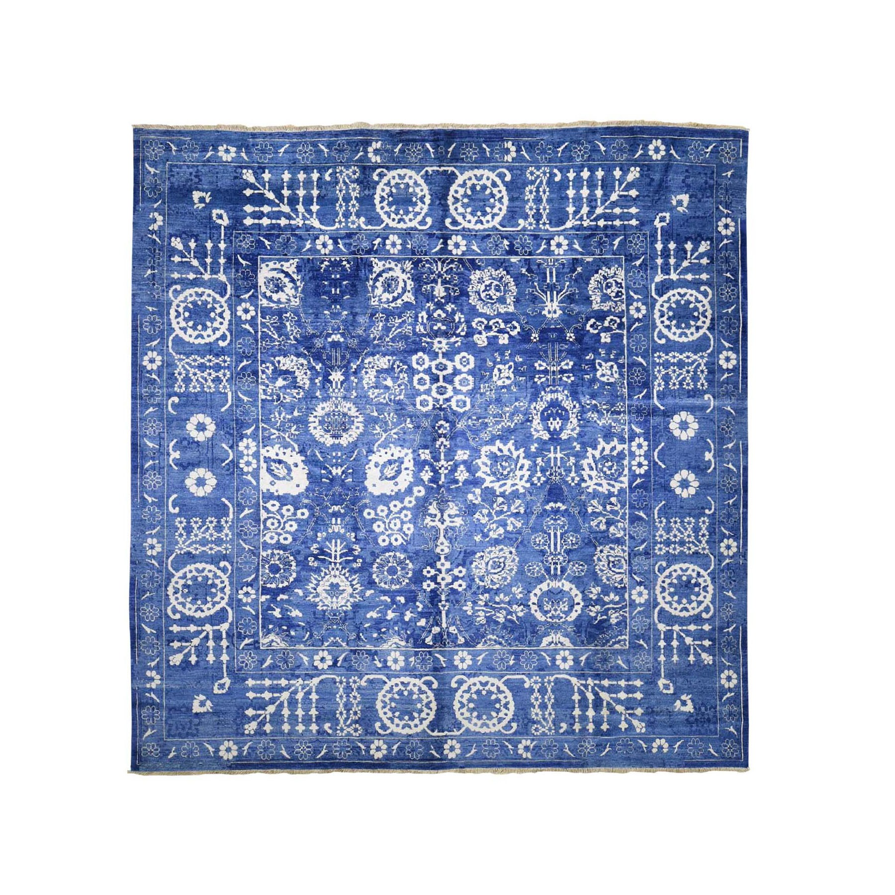 Transitional Hand Knotted Blue Rug No: 0196776