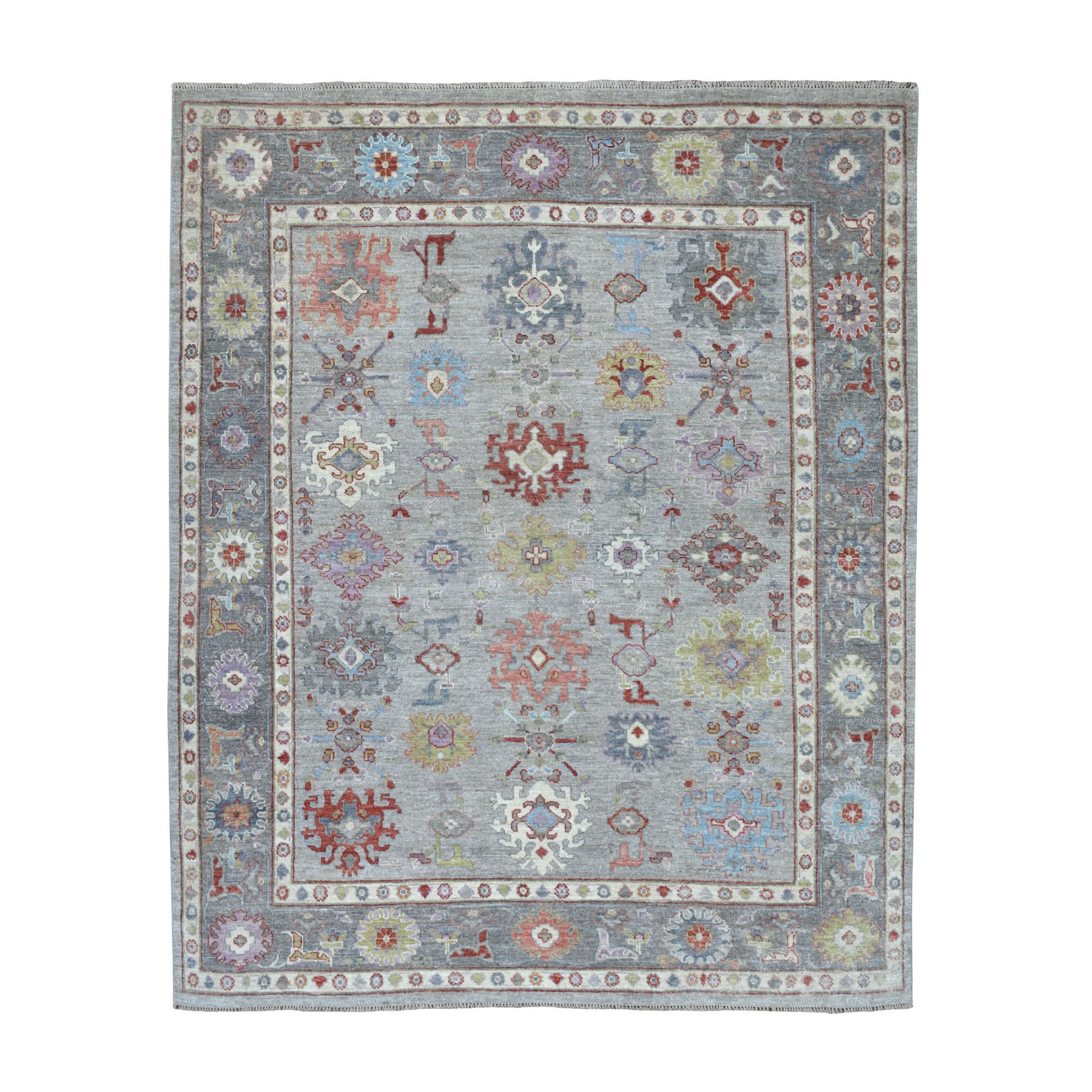 Agra And Turkish Collection Hand Knotted Grey Rug No: 01107288