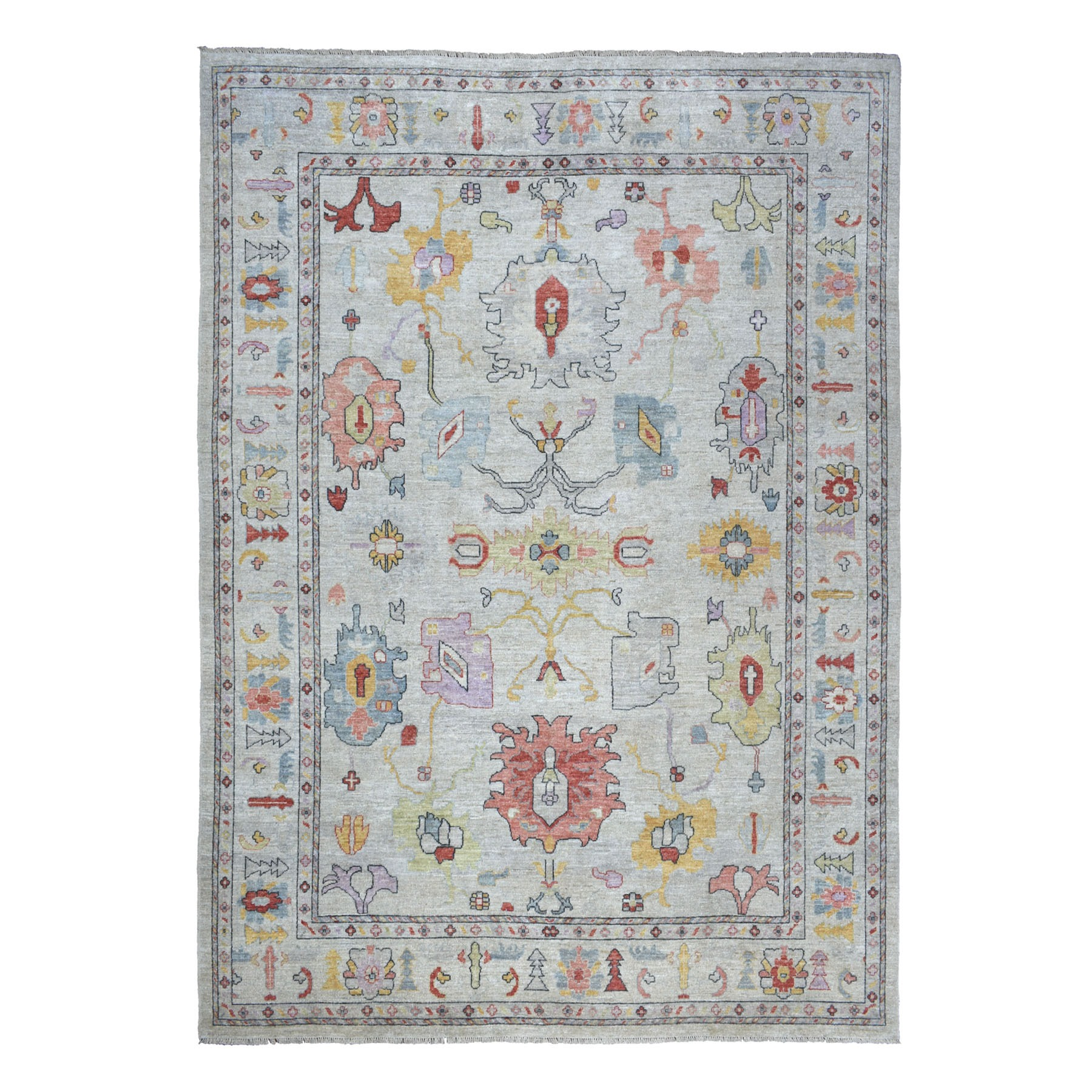 Agra And Turkish Collection Hand Knotted Grey Rug No: 01107300