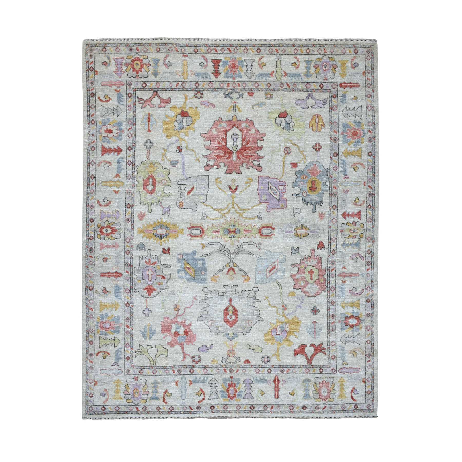 Agra And Turkish Collection Hand Knotted Grey Rug No: 01107310