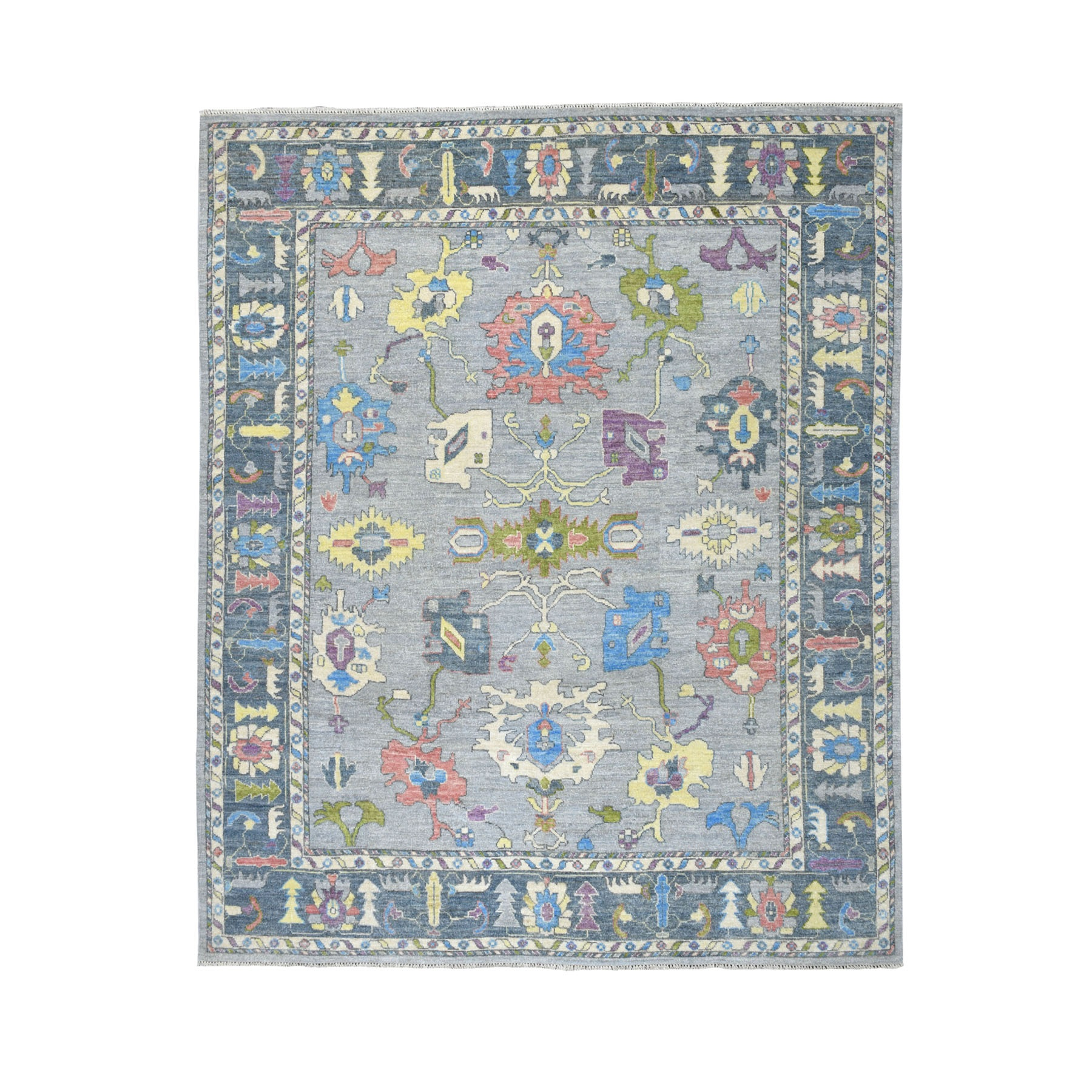Agra And Turkish Collection Hand Knotted Grey Rug No: 01107312