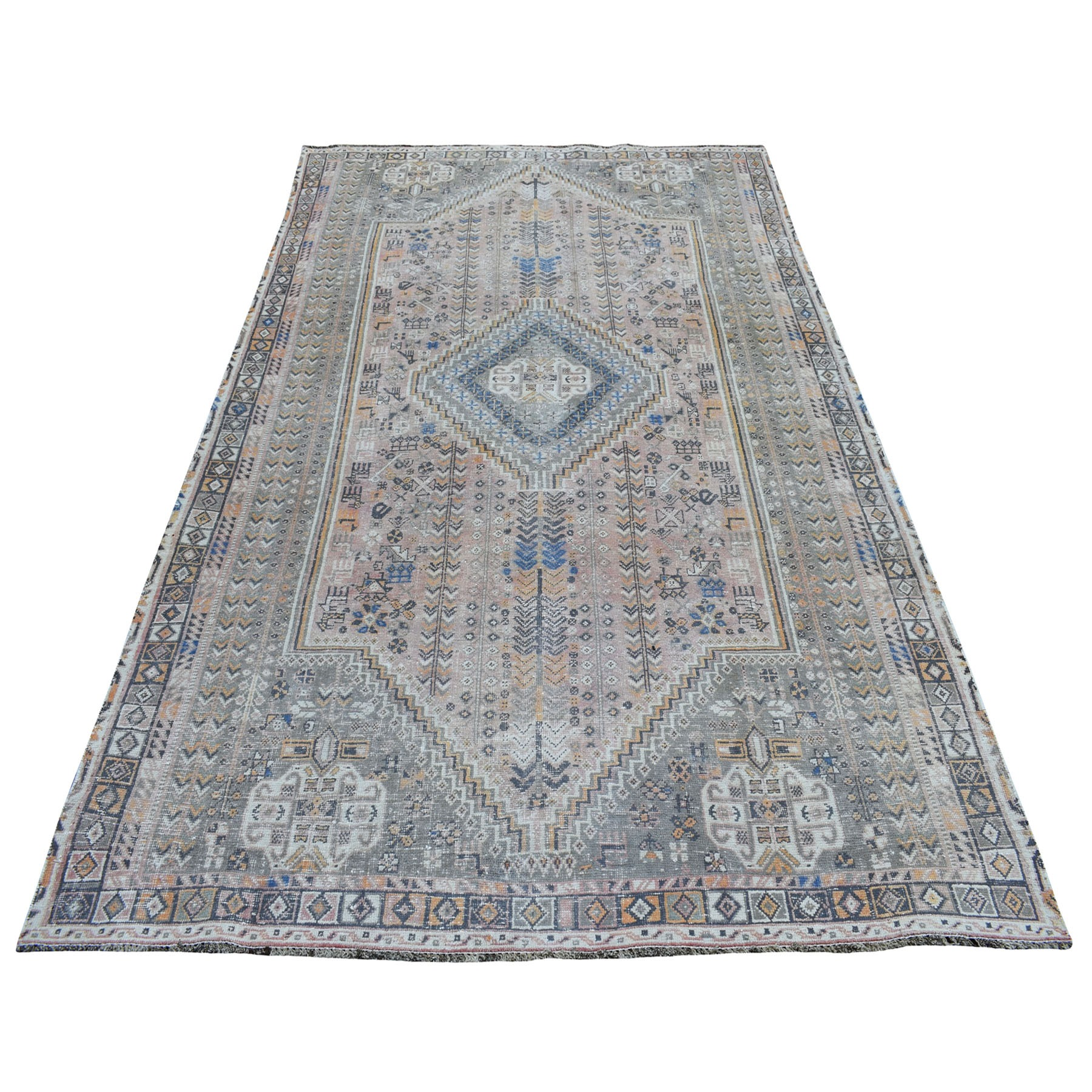 Fetneh Collection And Vintage Overdyed Collection Hand Knotted Pink Rug No: 01108052