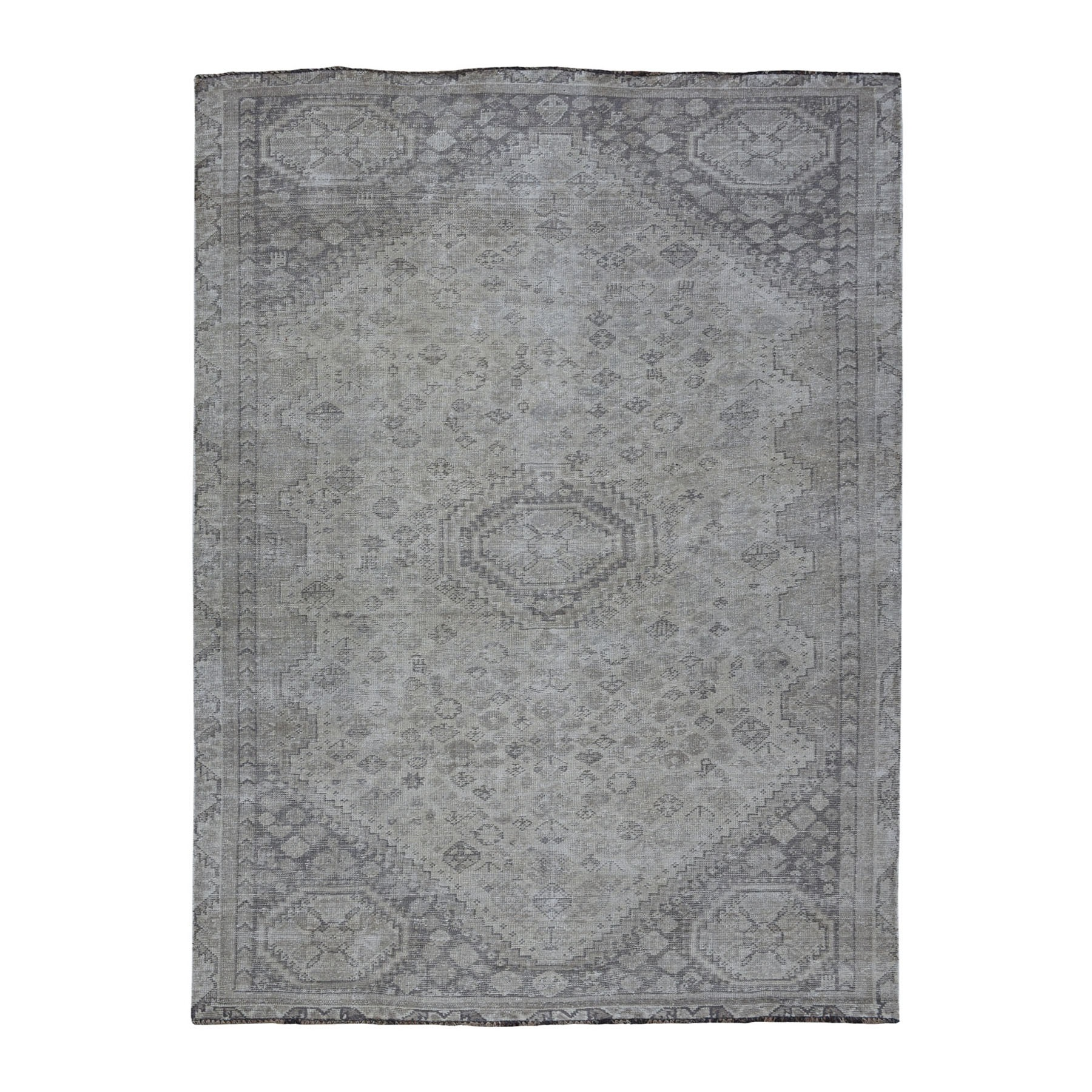 Fetneh Collection And Vintage Overdyed Collection Hand Knotted Ivory Rug No: 01108066
